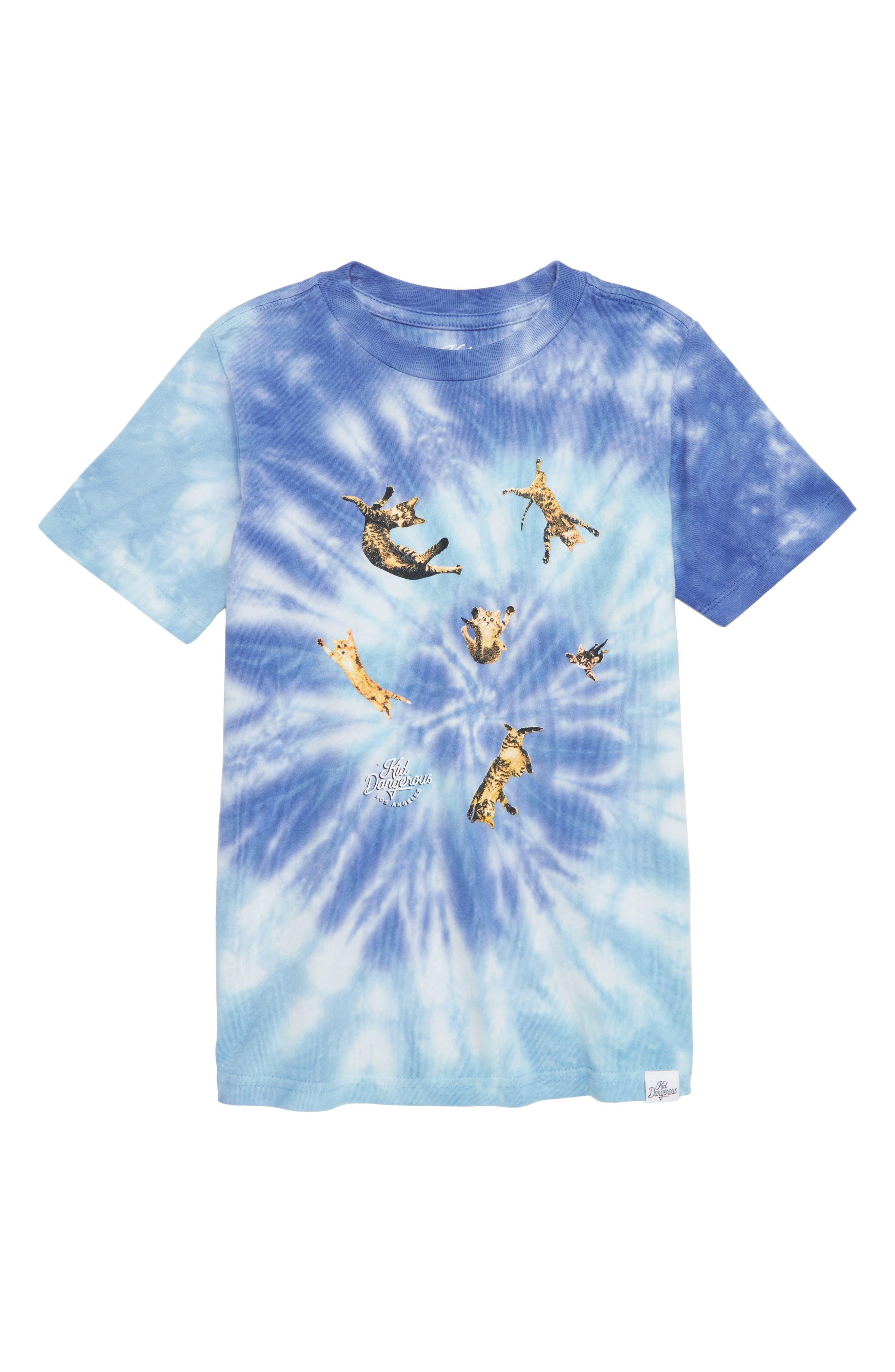 Catnado Graphic T-Shirt,                         Main,                         color, BLUE