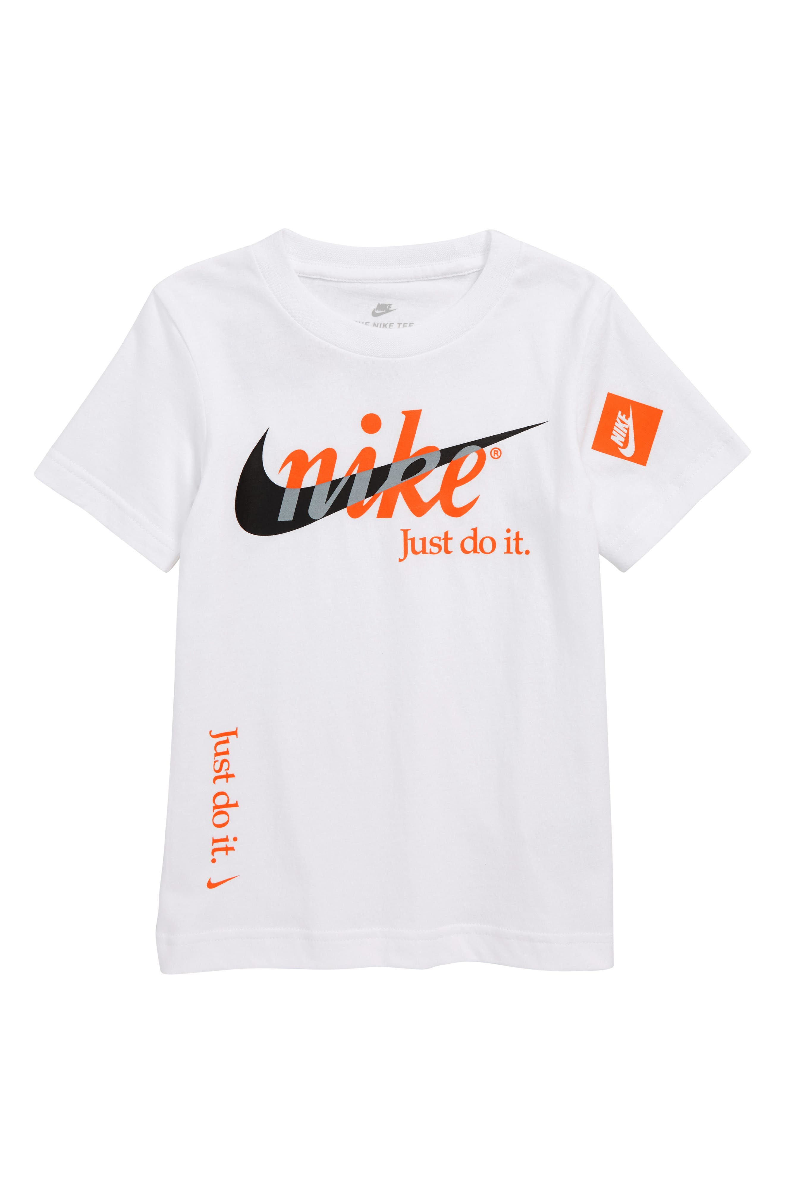 Just Do It T-Shirt,                         Main,                         color, WHITE