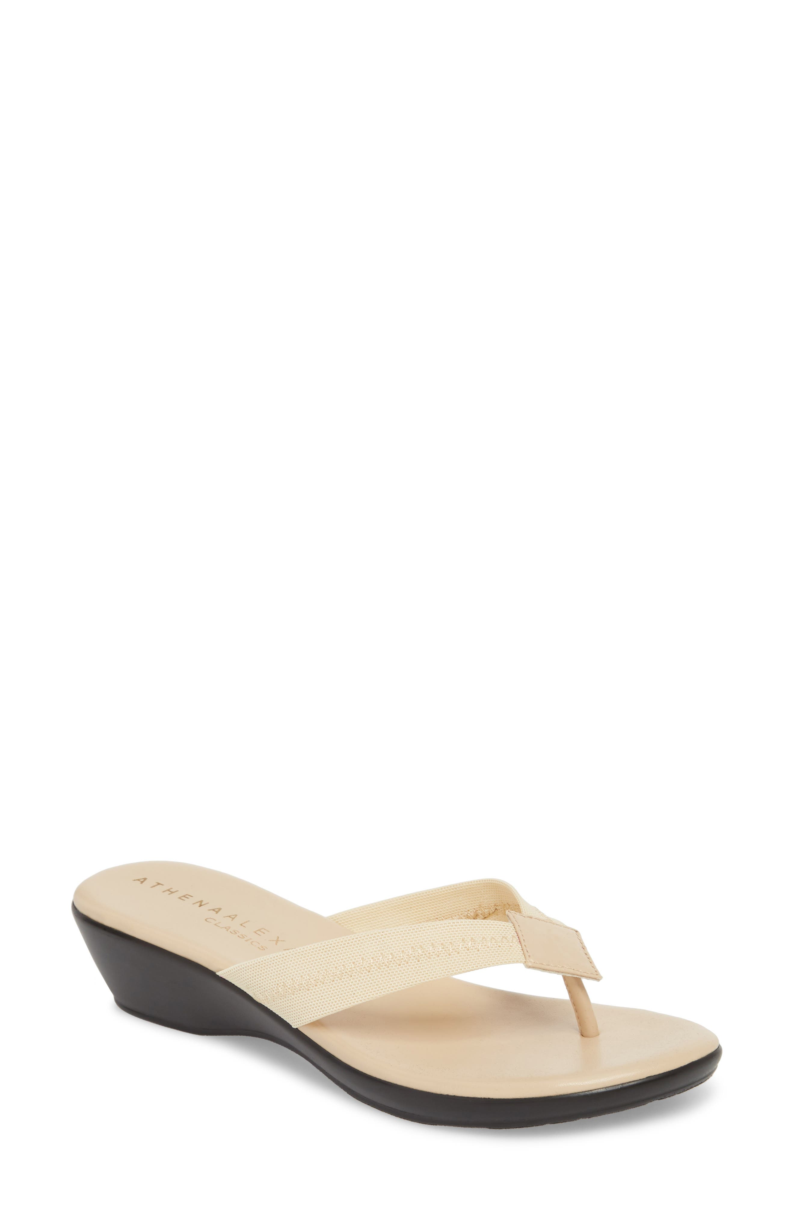 Ying Flip Flop,                         Main,                         color, BEIGE STRETCH FABRIC