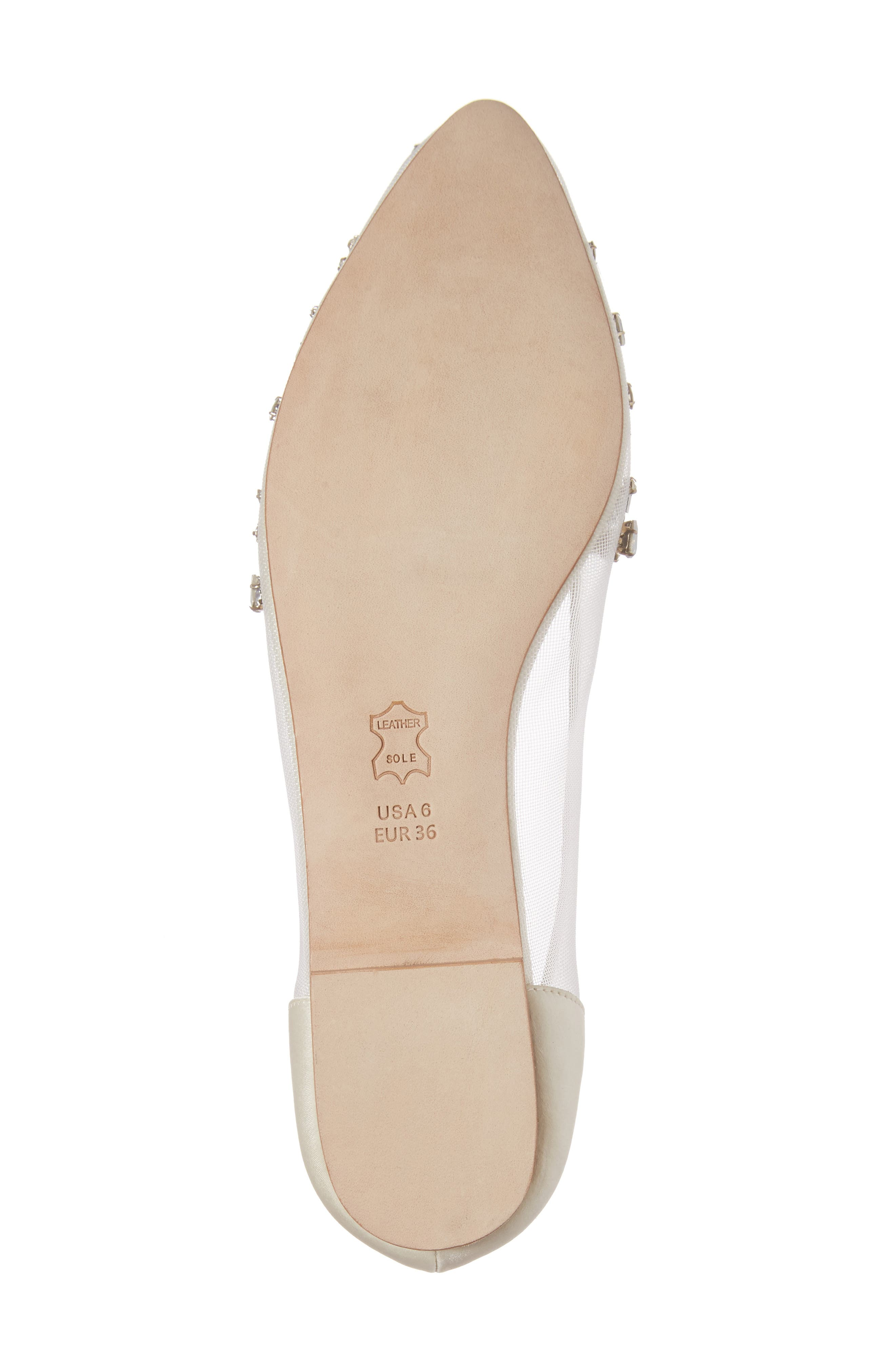 Willow Skimmer Flat,                             Alternate thumbnail 6, color,                             IVORY FABRIC