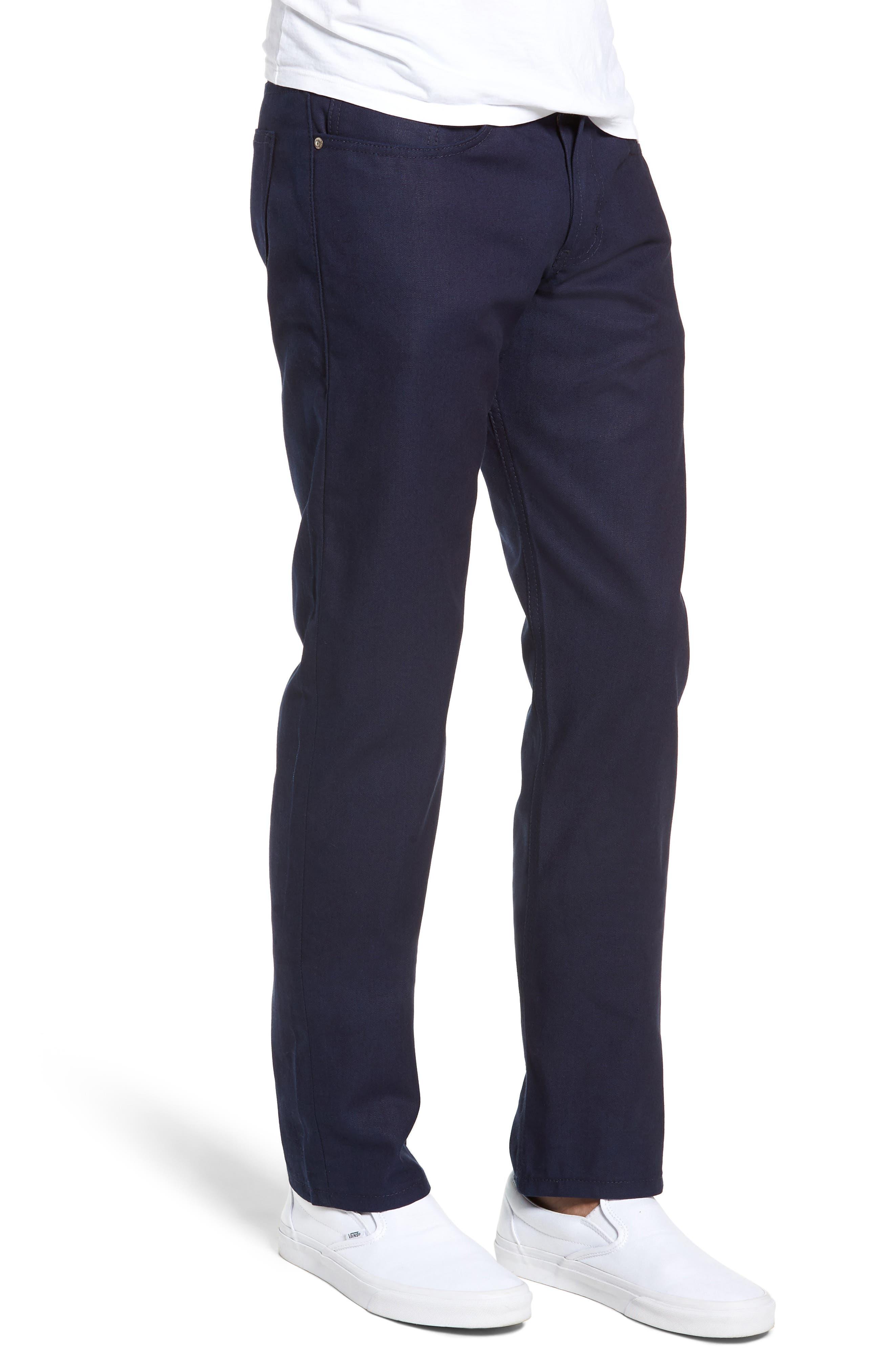 Weird Guy Slim Fit Jeans,                             Alternate thumbnail 3, color,                             INDIGO DUCK CANVAS SELVEDGE