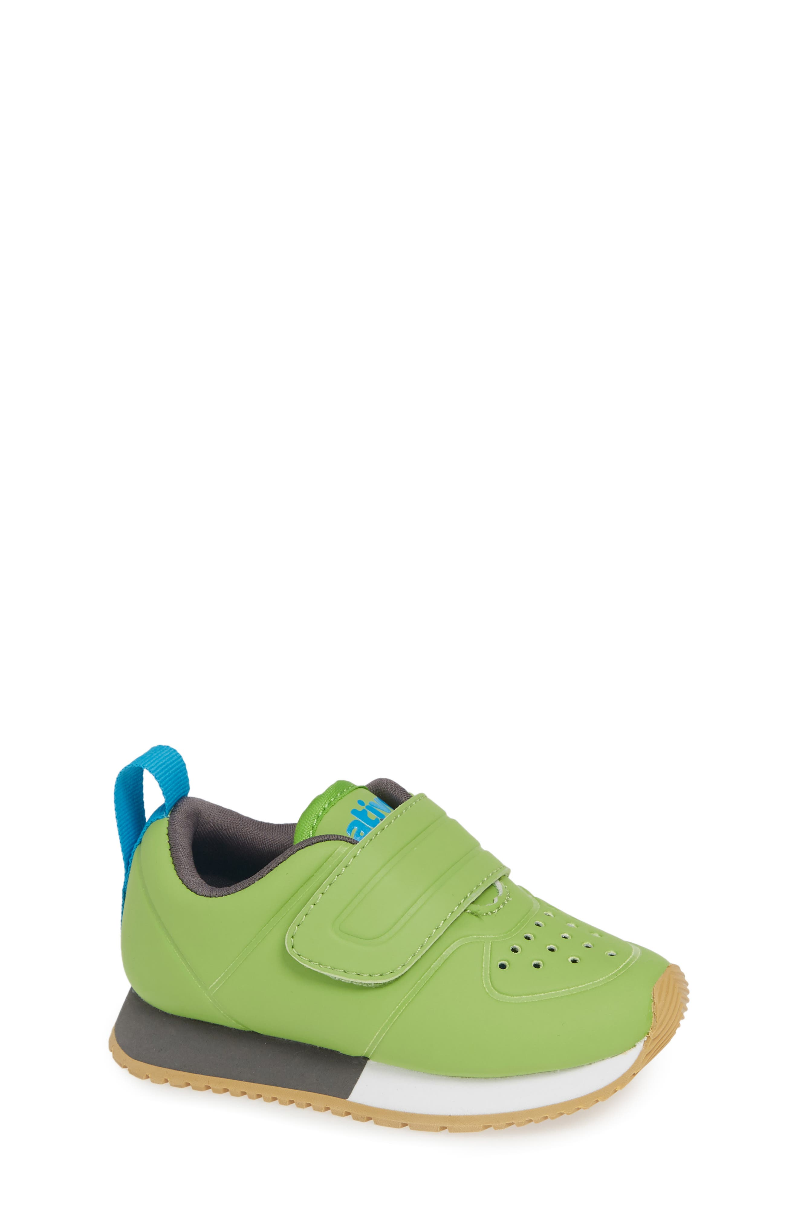 Cornell Perforated Colorblock Sneaker,                             Main thumbnail 1, color,                             SPRING GREEN/ WHITE/ GREY
