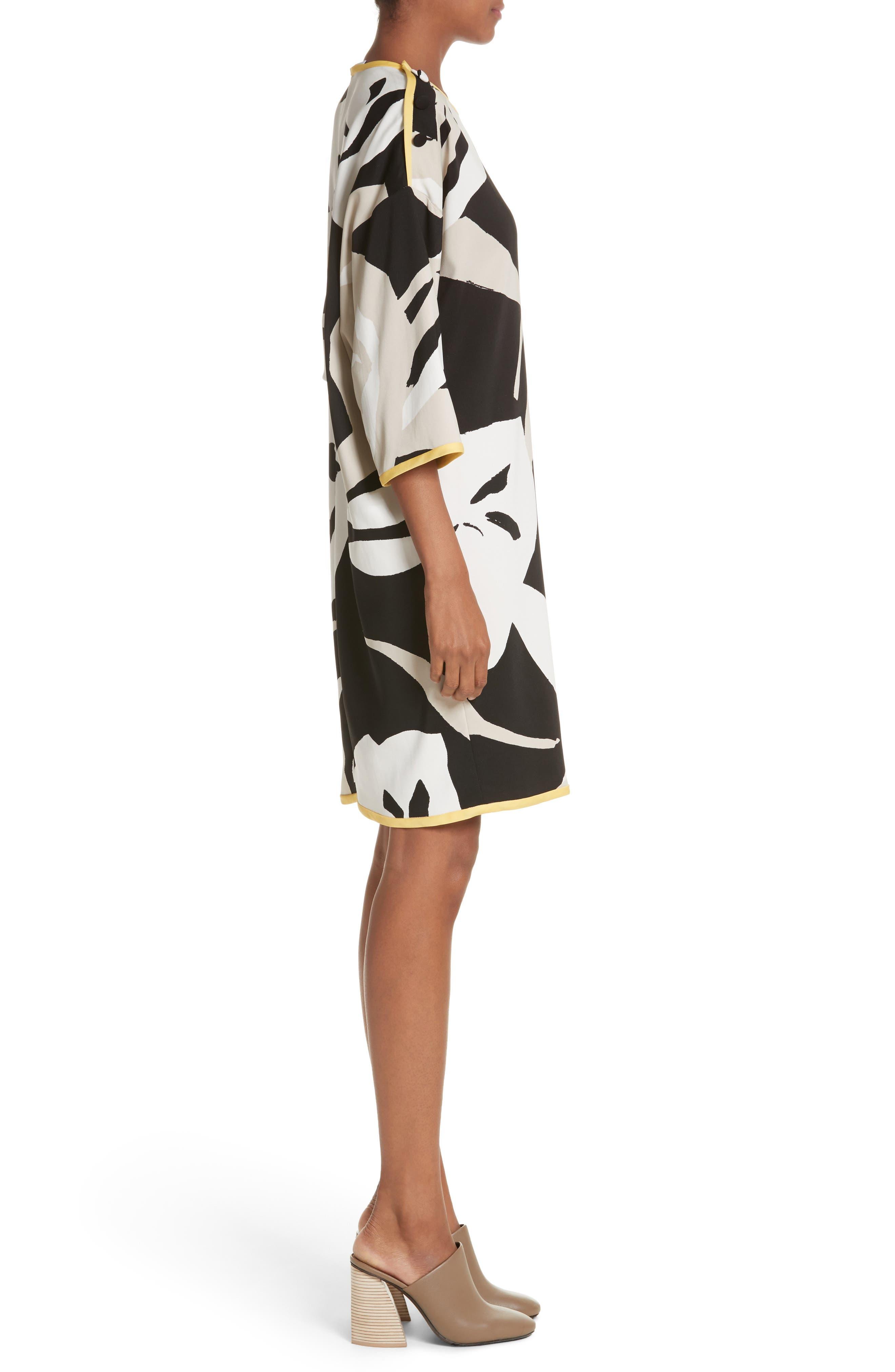 Leva Print Shift Dress,                             Alternate thumbnail 3, color,