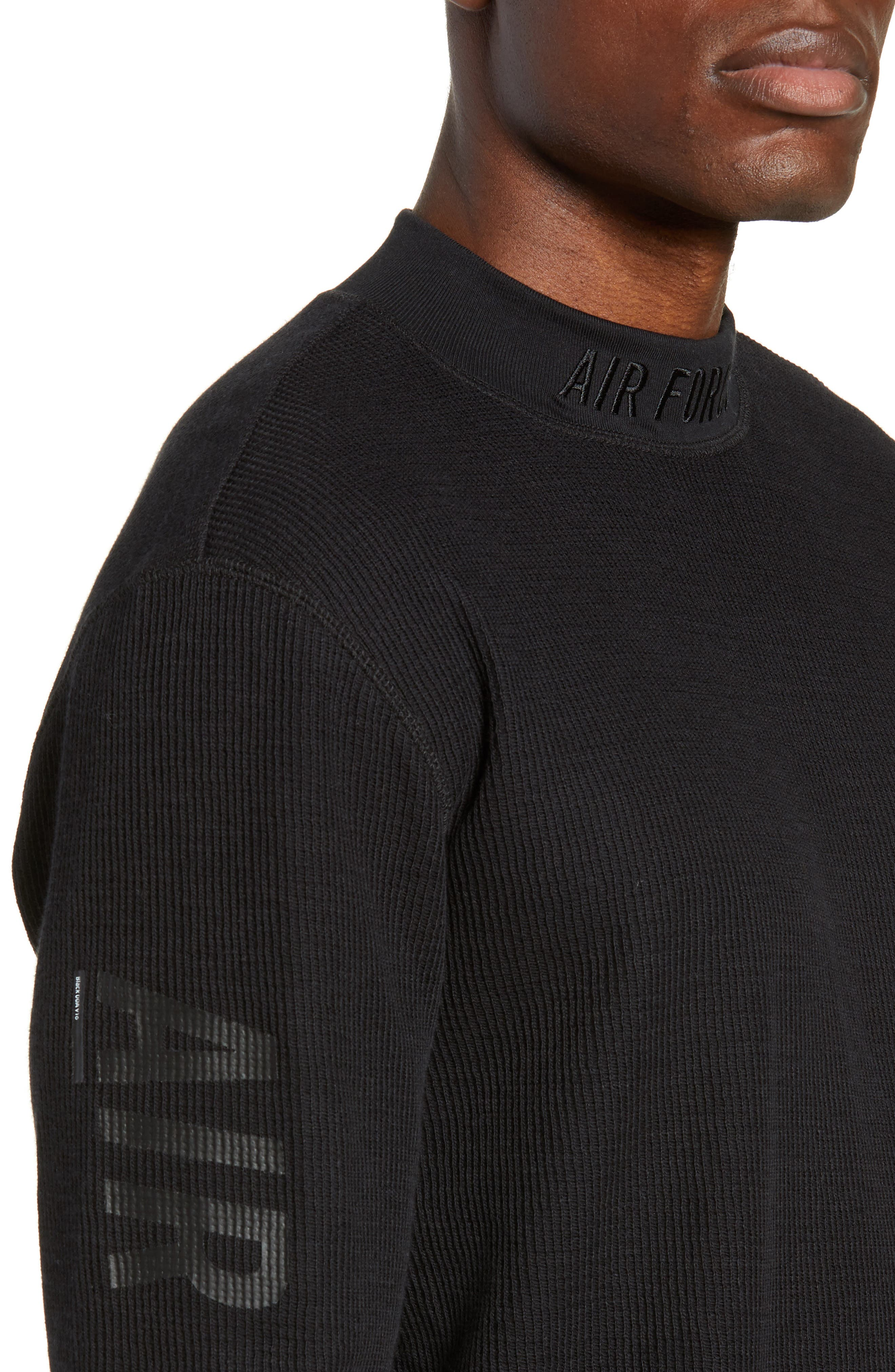 Sportswear Air Force 1 Long Sleeve Top,                             Alternate thumbnail 4, color,                             BLACK