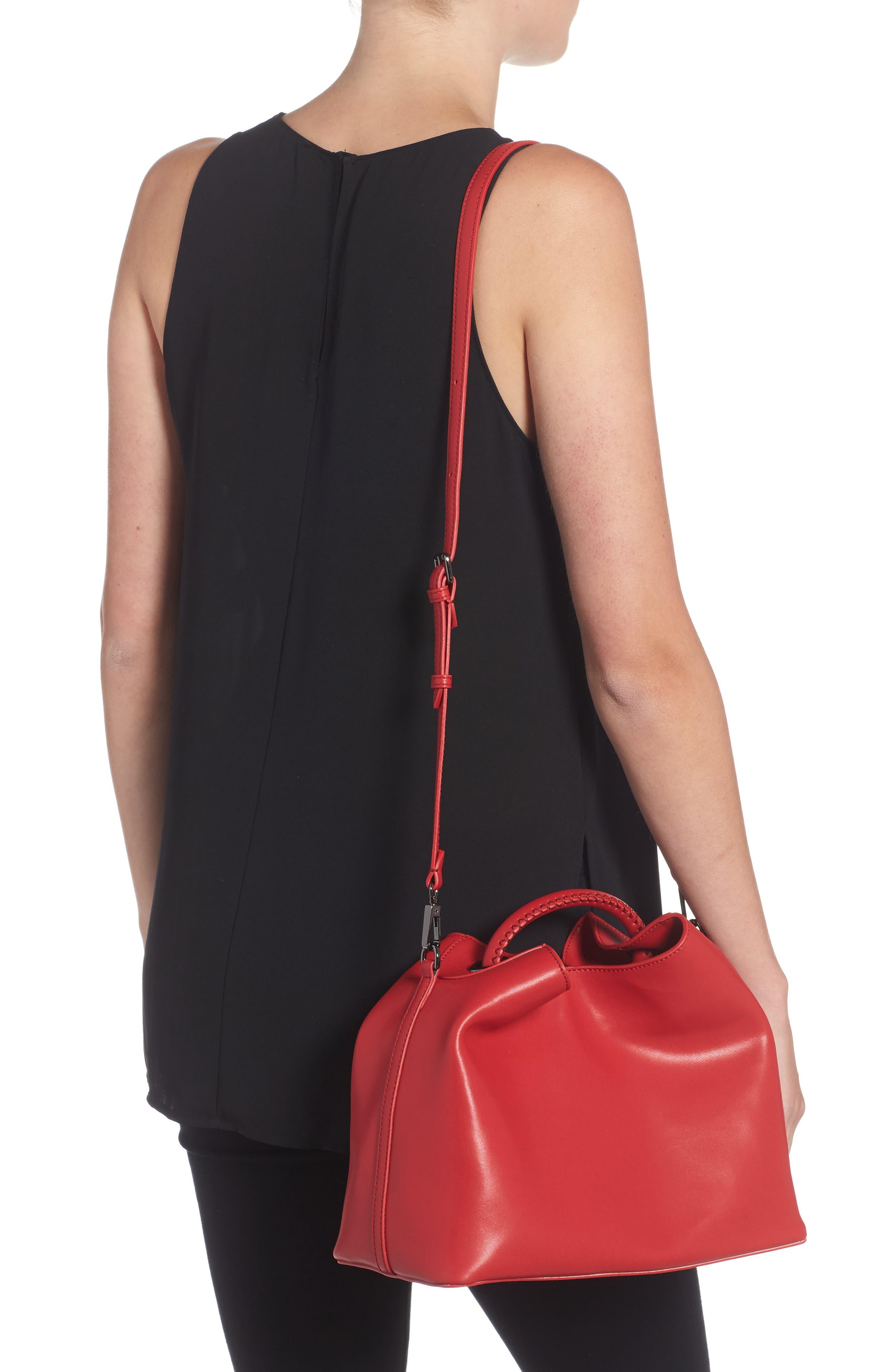 Raisin Leather Handbag,                             Alternate thumbnail 14, color,