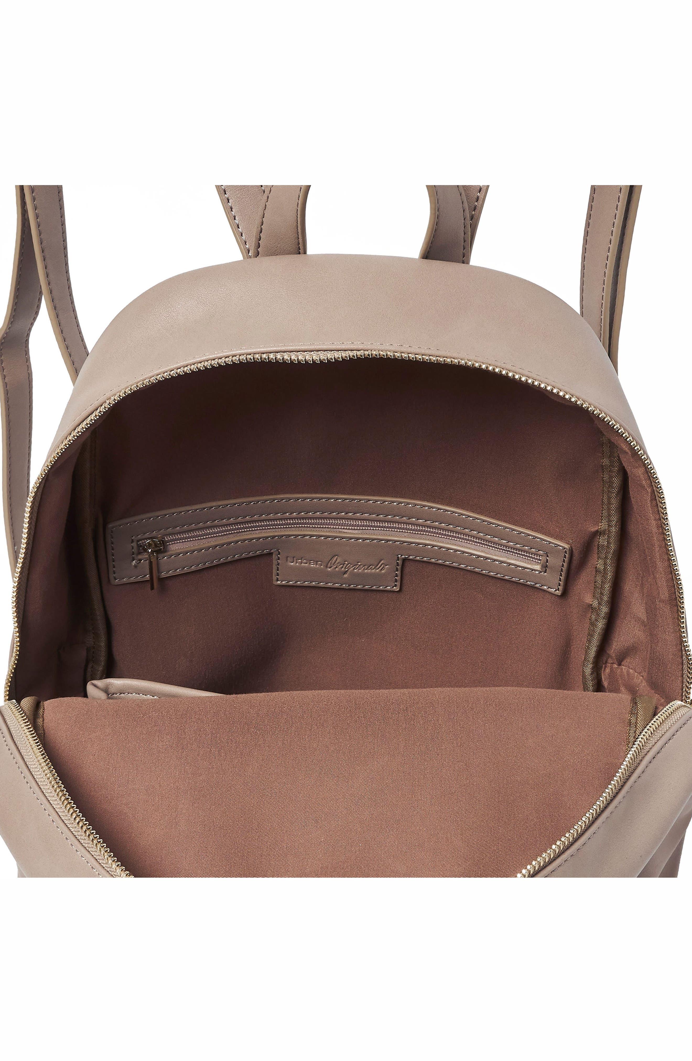 Sublime Vegan Leather Backpack,                             Alternate thumbnail 8, color,