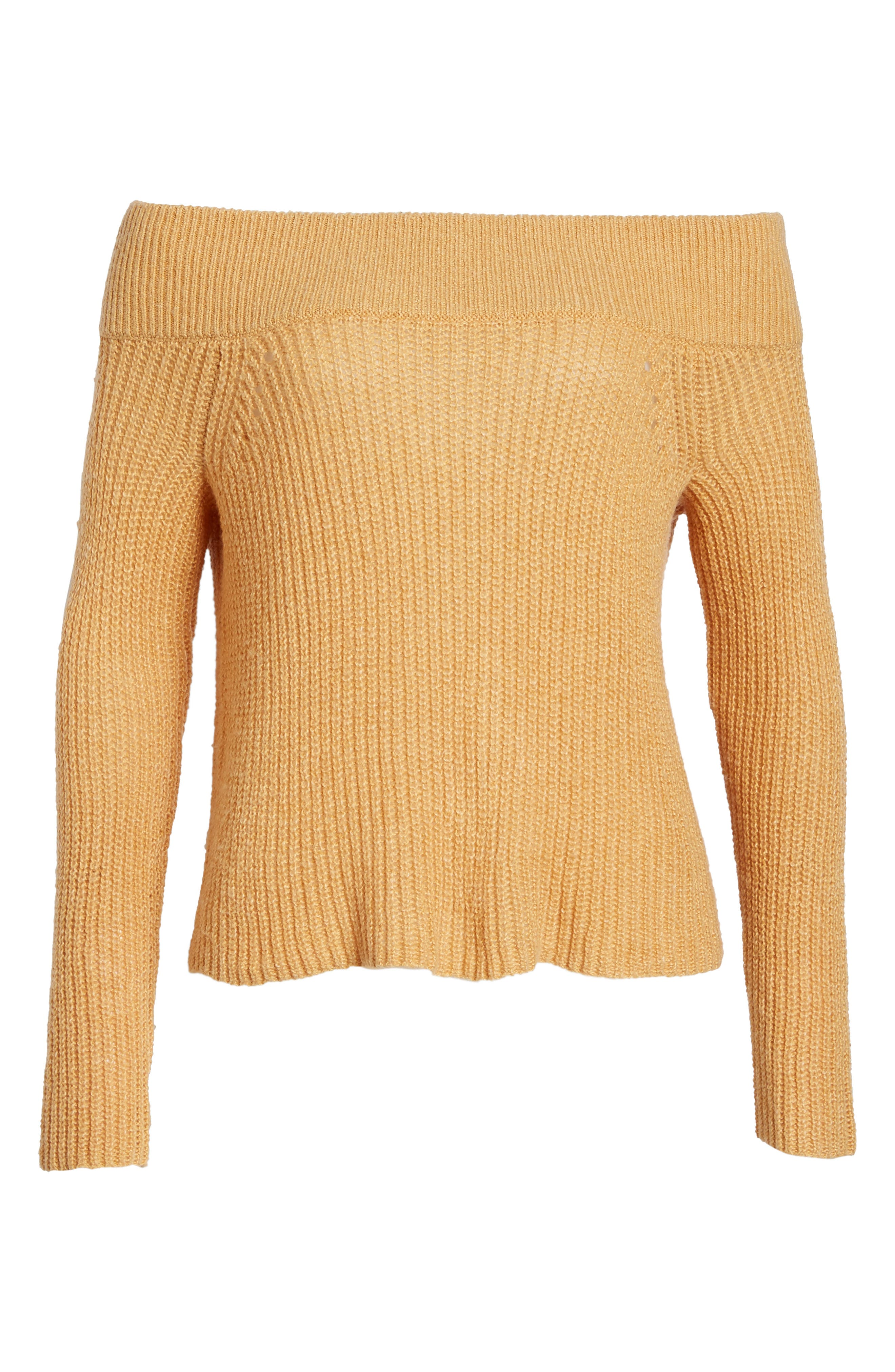Lofty Off the Shoulder Pullover,                             Alternate thumbnail 6, color,                             235