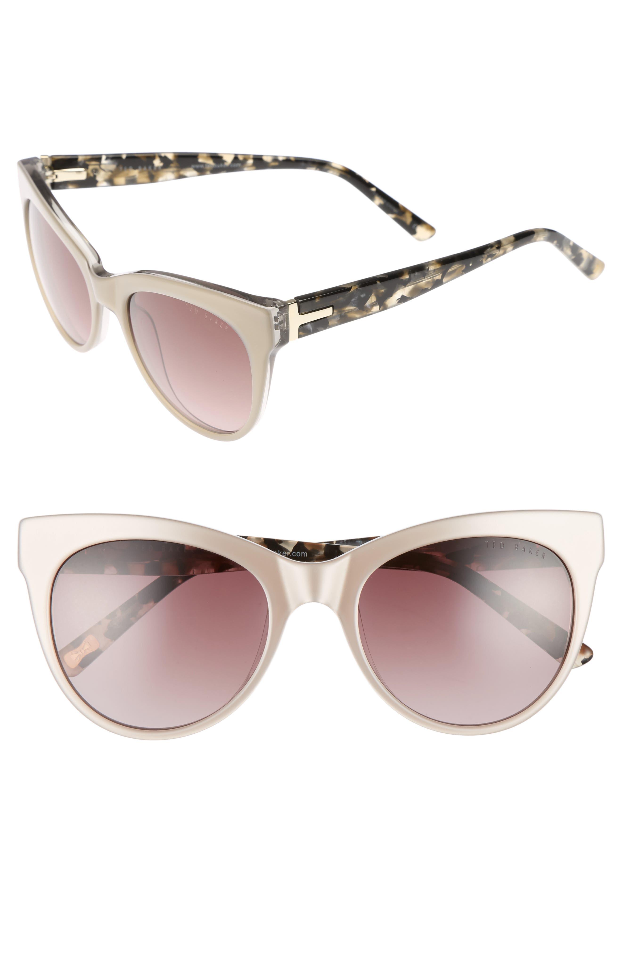 51mm Cat Eye Sunglasses,                             Main thumbnail 1, color,                             200