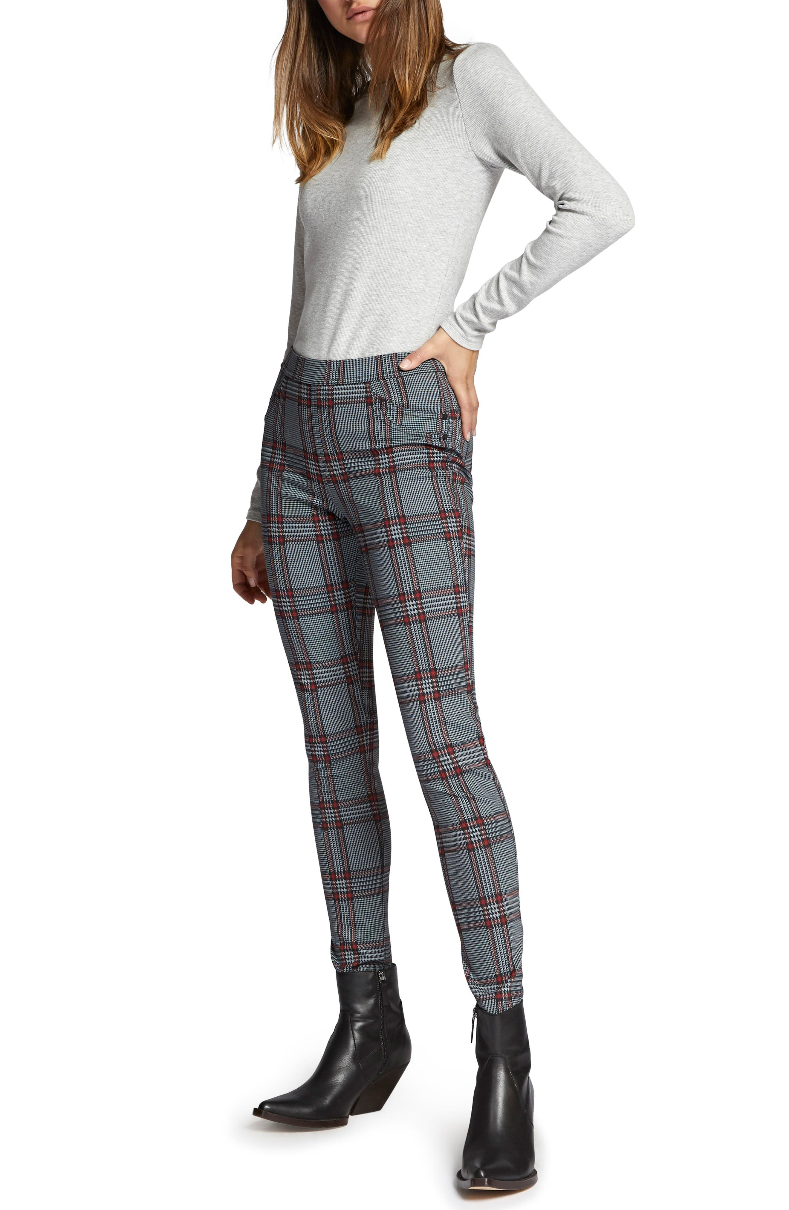SANCTUARY,                             Grease Plaid Leggings,                             Alternate thumbnail 4, color,                             020