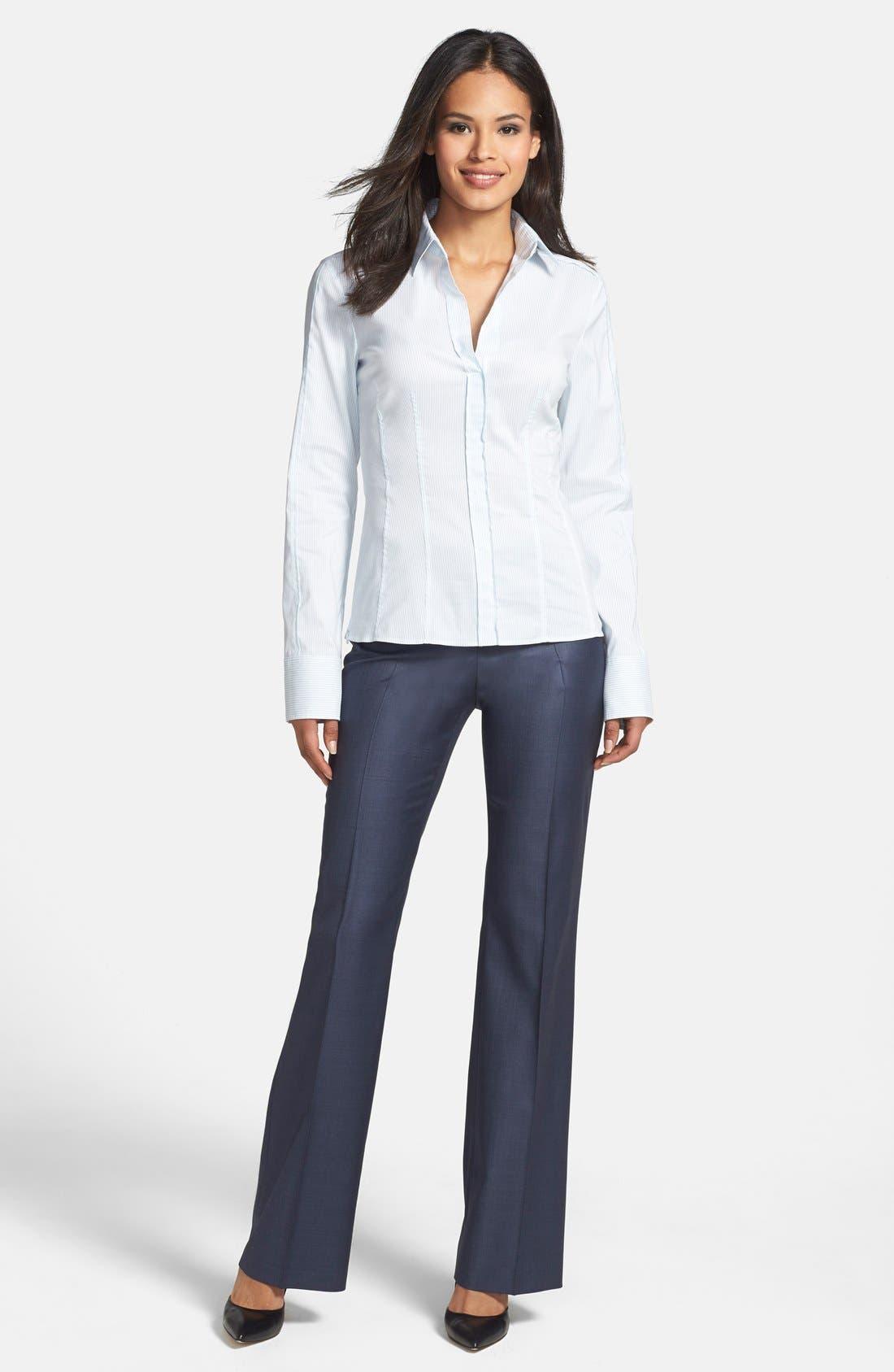 'Temuna' Wool Blend Suiting Trousers,                             Alternate thumbnail 2, color,                             463