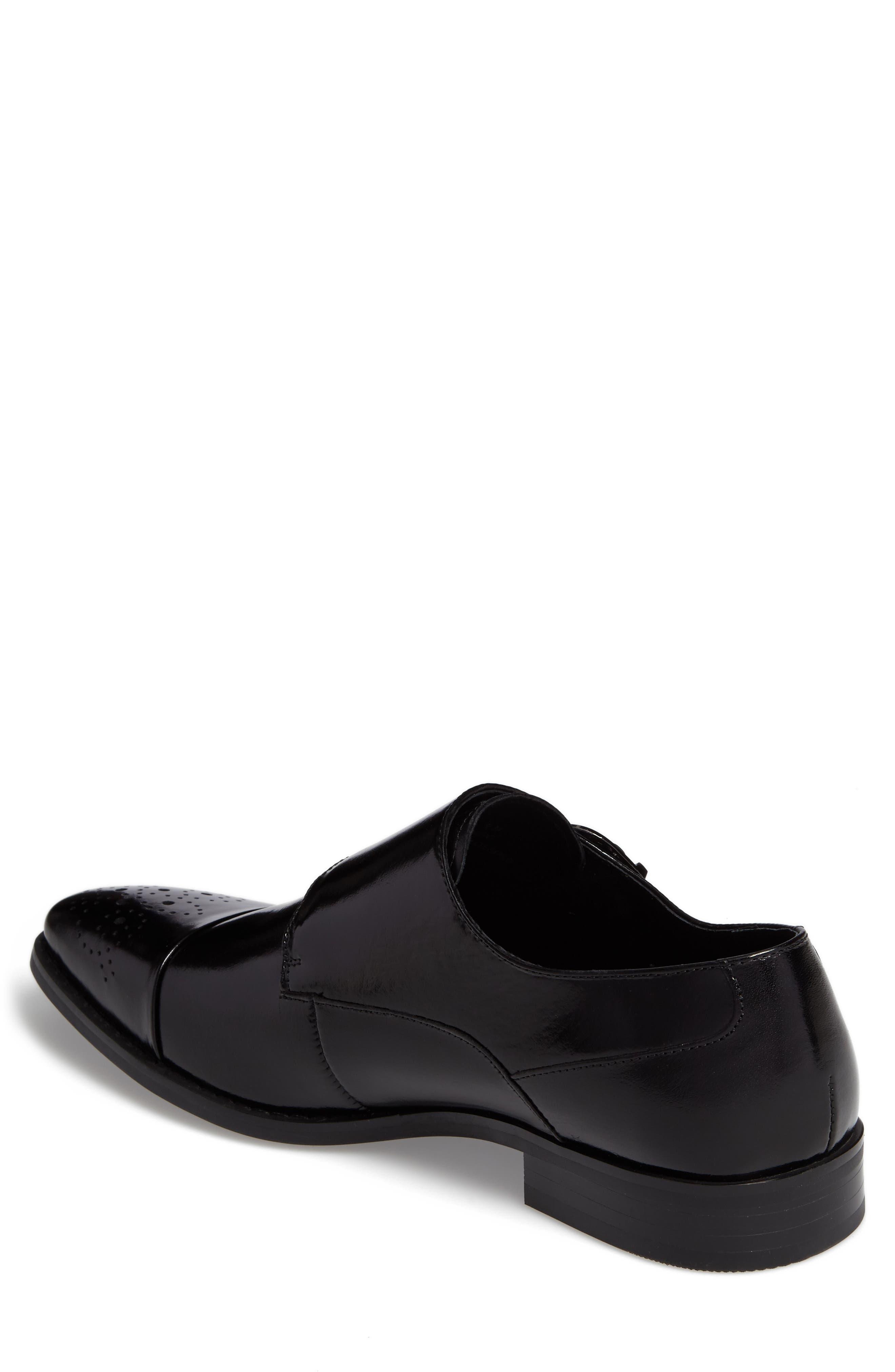 Trevor Double Monk Strap Shoe,                             Alternate thumbnail 2, color,                             001