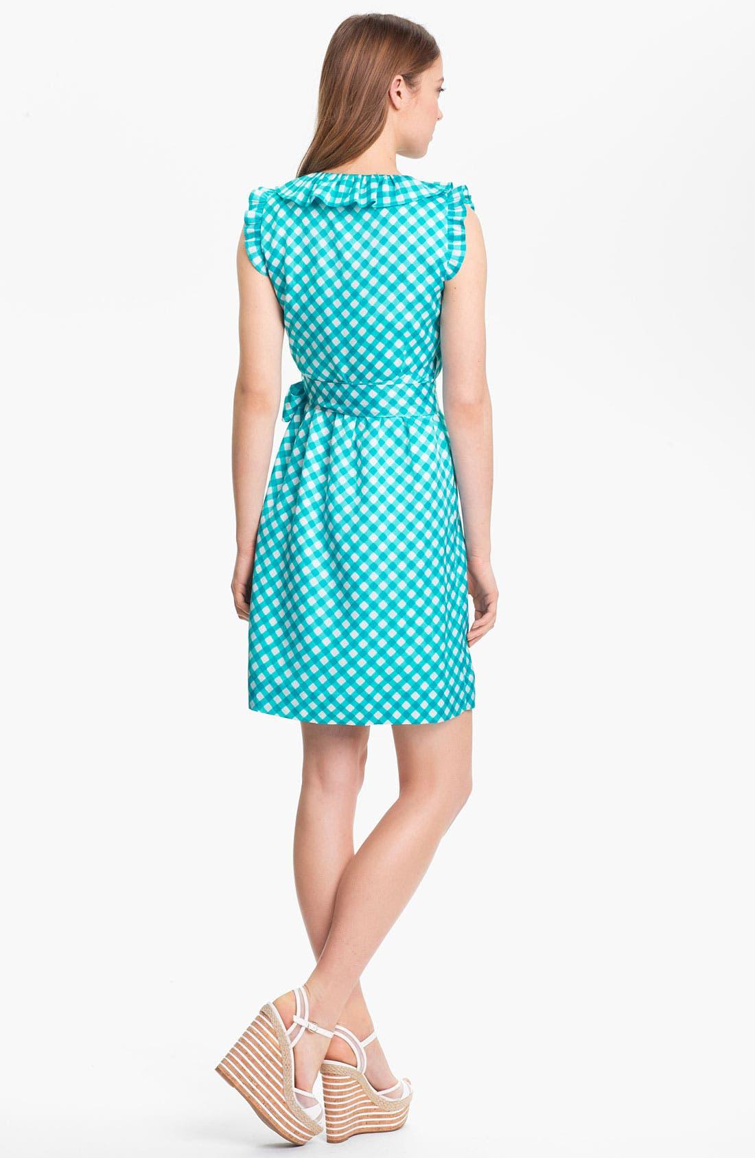 'aubrey' silk blend wrap dress,                             Alternate thumbnail 3, color,                             414