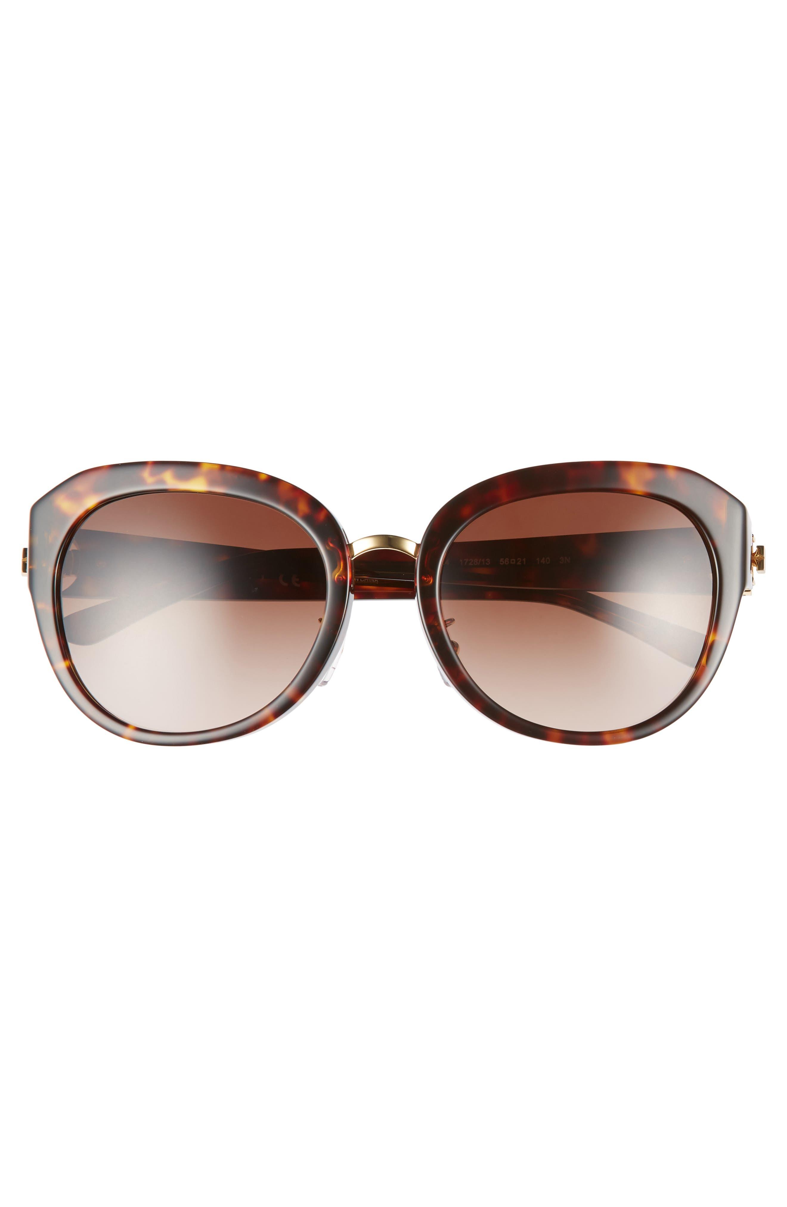 Irregular Reva 56mm Sunglasses,                             Alternate thumbnail 3, color,                             212