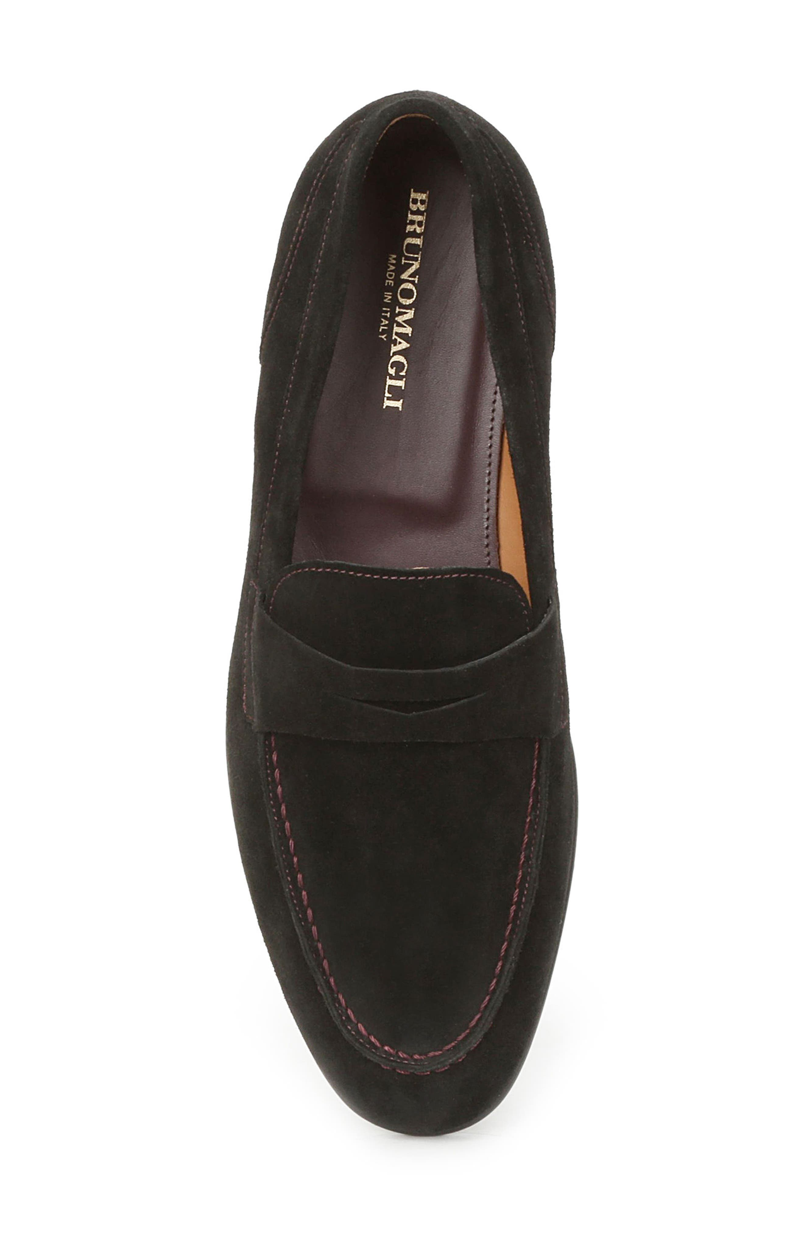 Silas Penny Loafer,                             Alternate thumbnail 5, color,                             BLACK