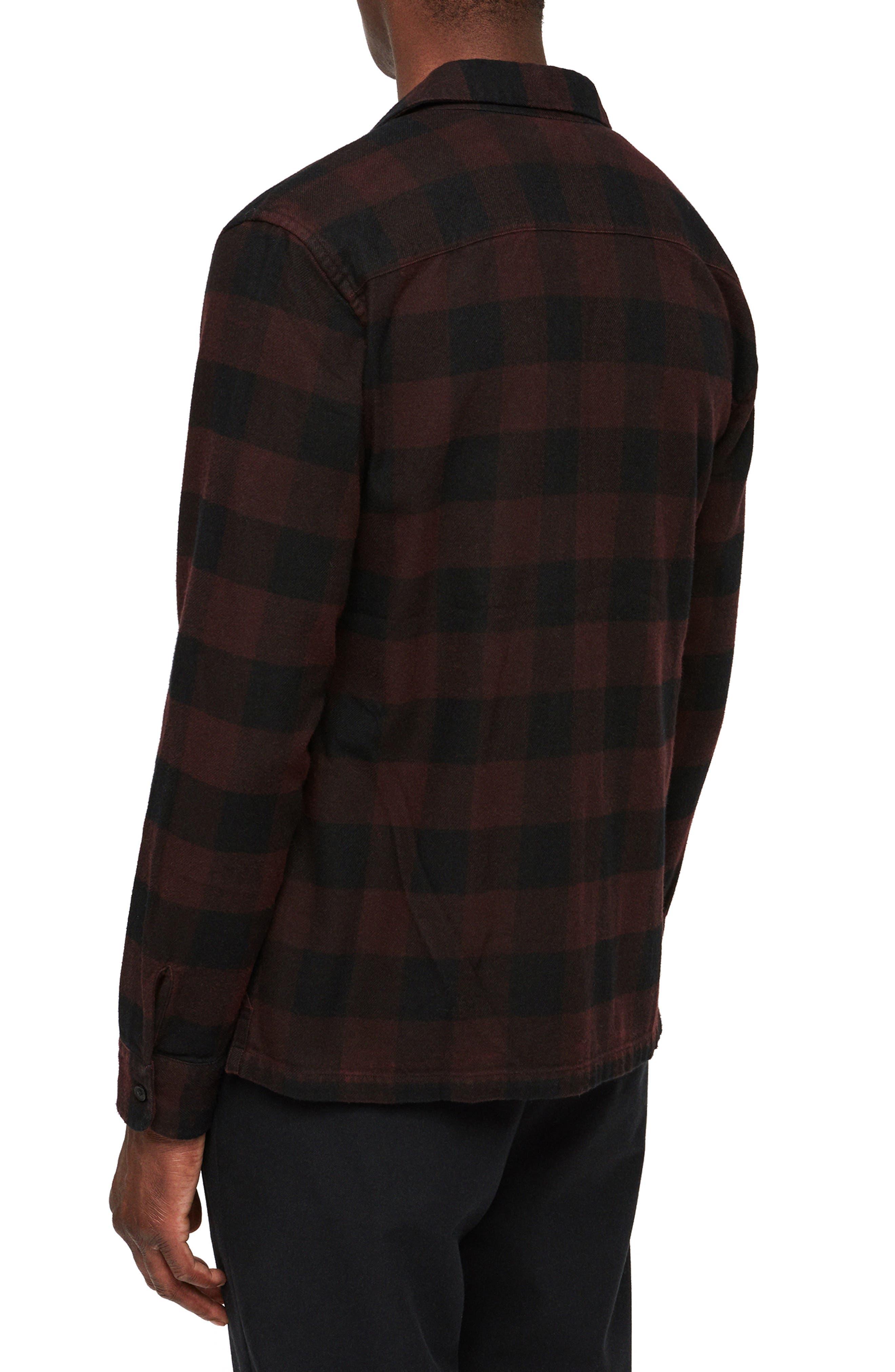 Boulder Slim Fit Shirt,                             Alternate thumbnail 2, color,                             RED
