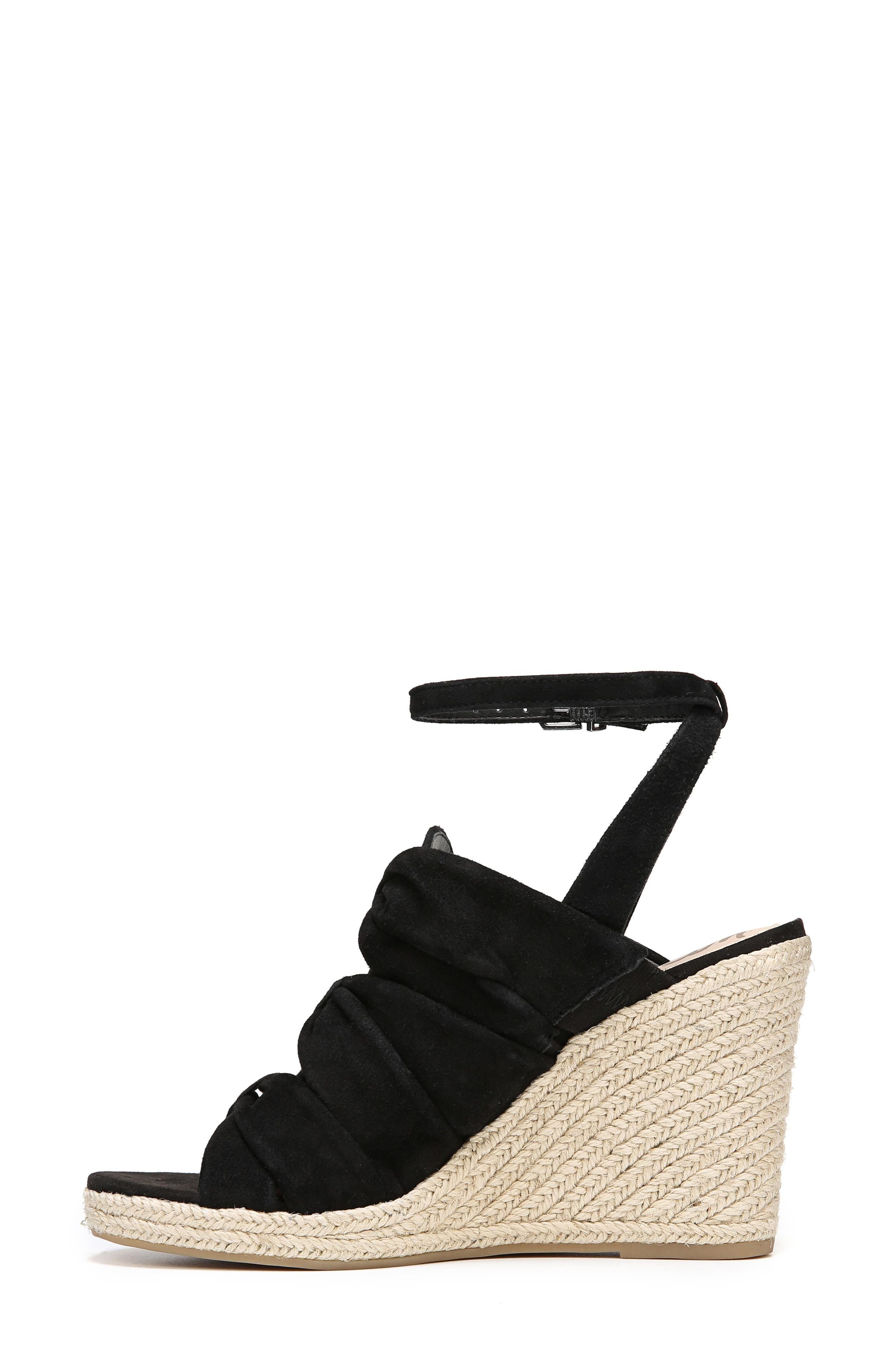 Awan Cinched Wedge Sandal,                             Alternate thumbnail 5, color,