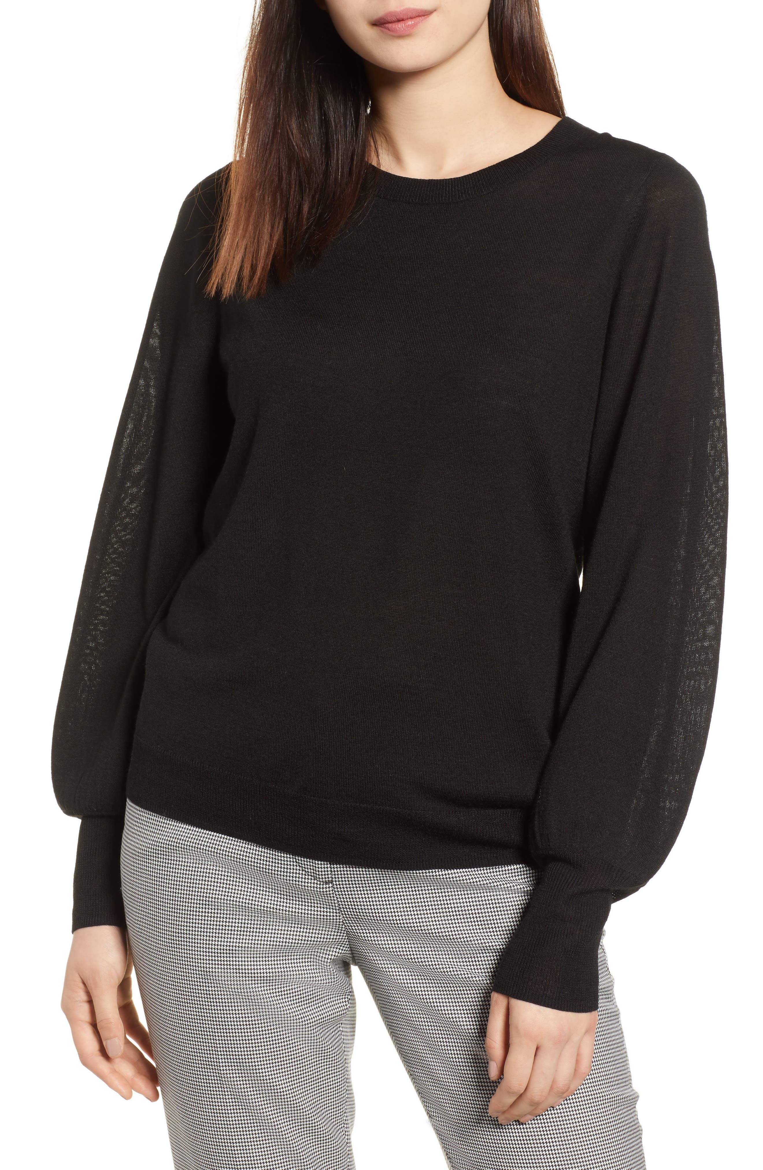 Puff Sleeve Sweater,                             Main thumbnail 2, color,