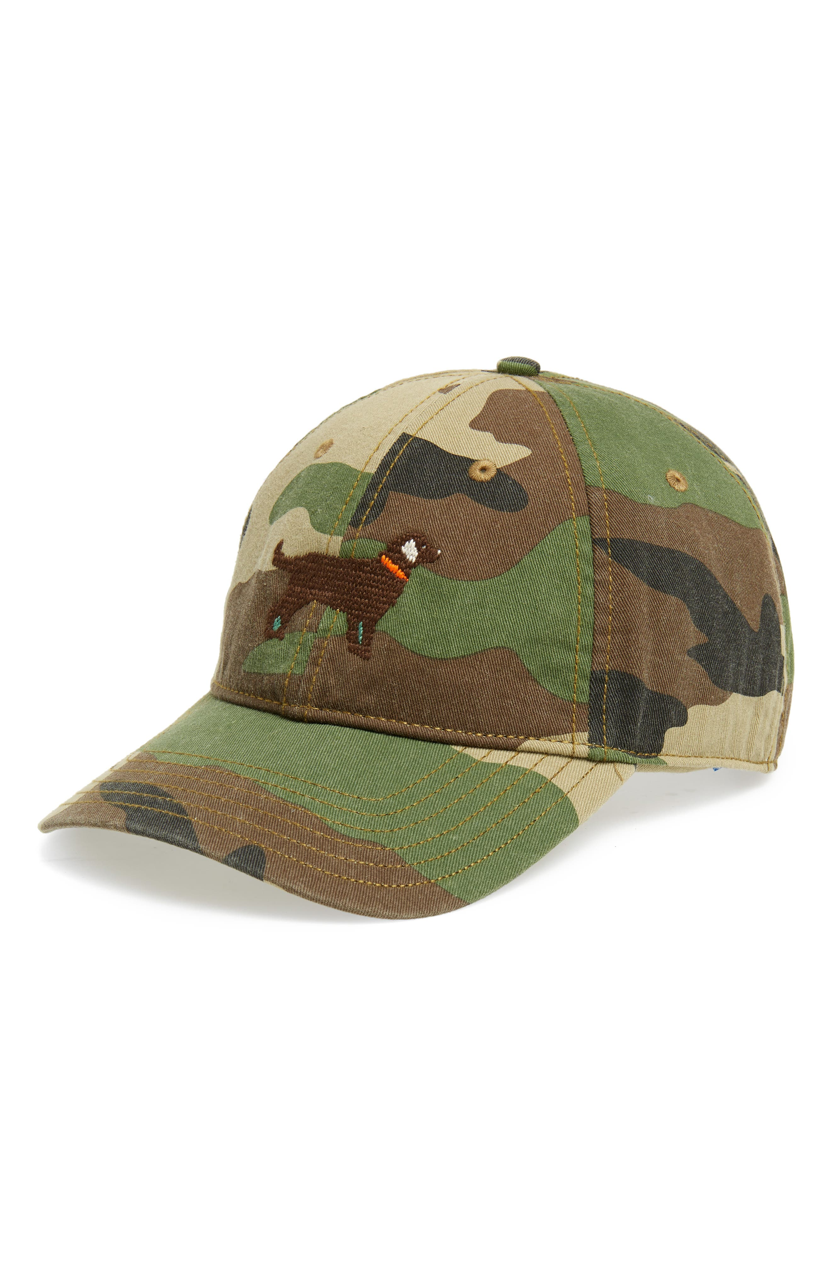 HARDING-LANE Chocolate Lab Baseball Cap, Main, color, 300