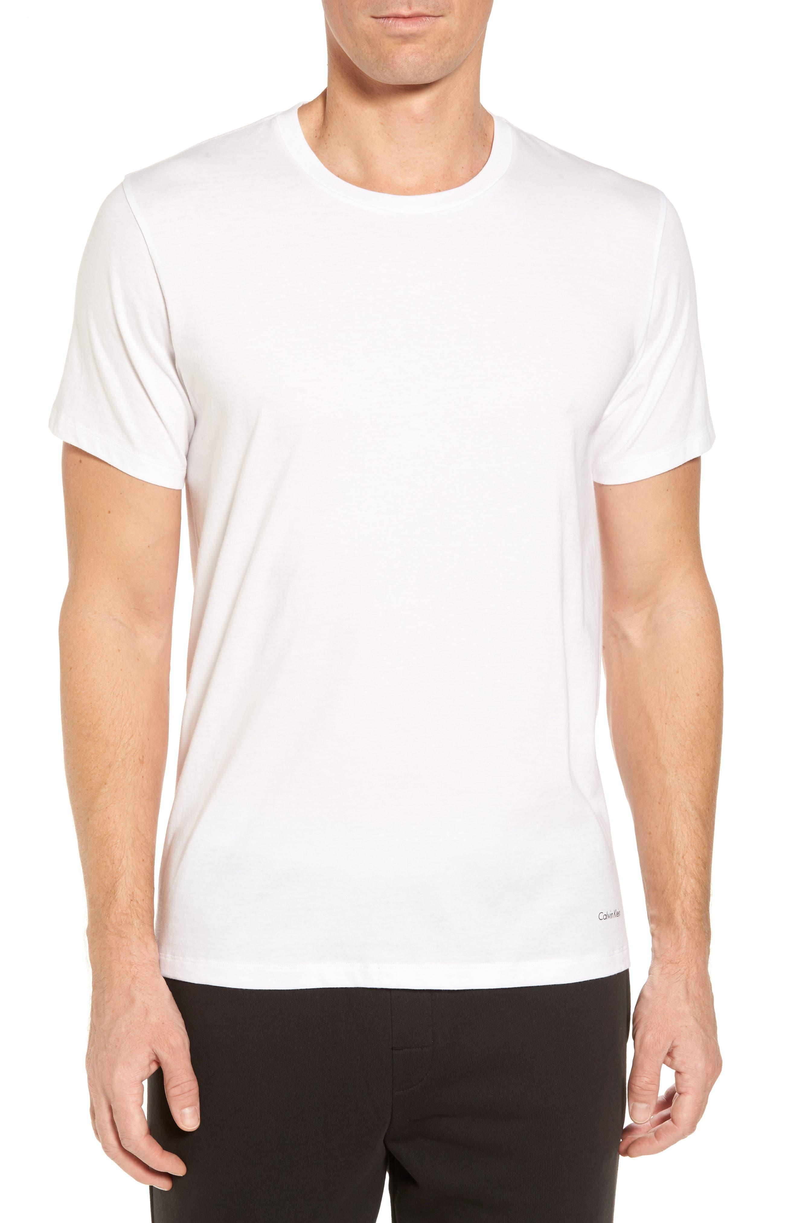 Cotton Class 4-Pack Crewneck T-Shirt,                         Main,                         color, WHITE
