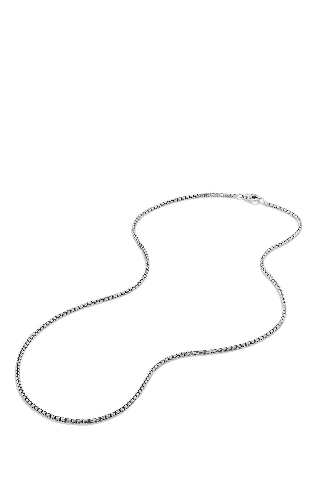 'Chain' Small Box Chain Necklace,                             Alternate thumbnail 3, color,                             SILVER