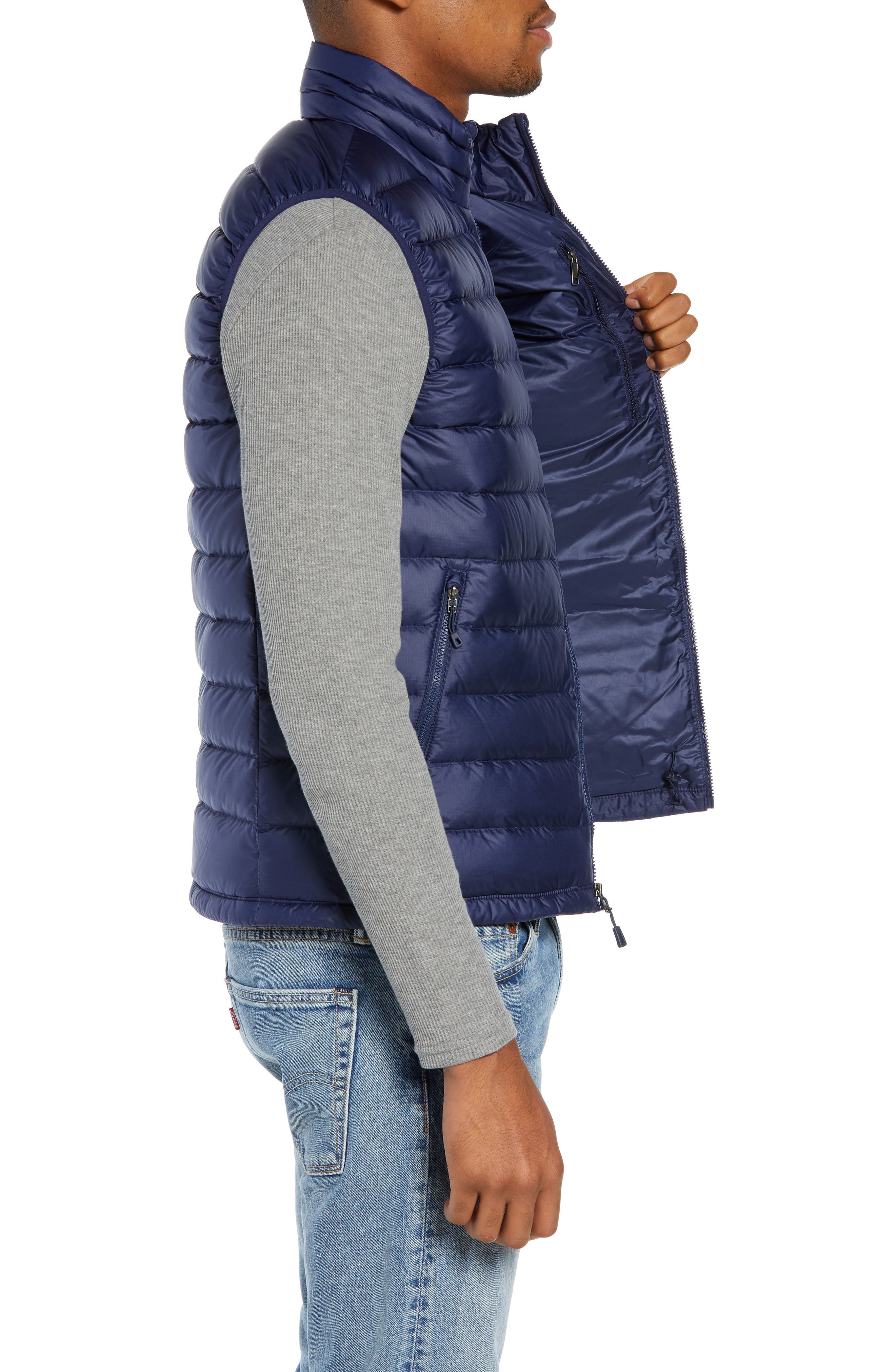 Windproof & Water Resistant 800 Fill Power Down Quilted Vest,                             Alternate thumbnail 22, color,
