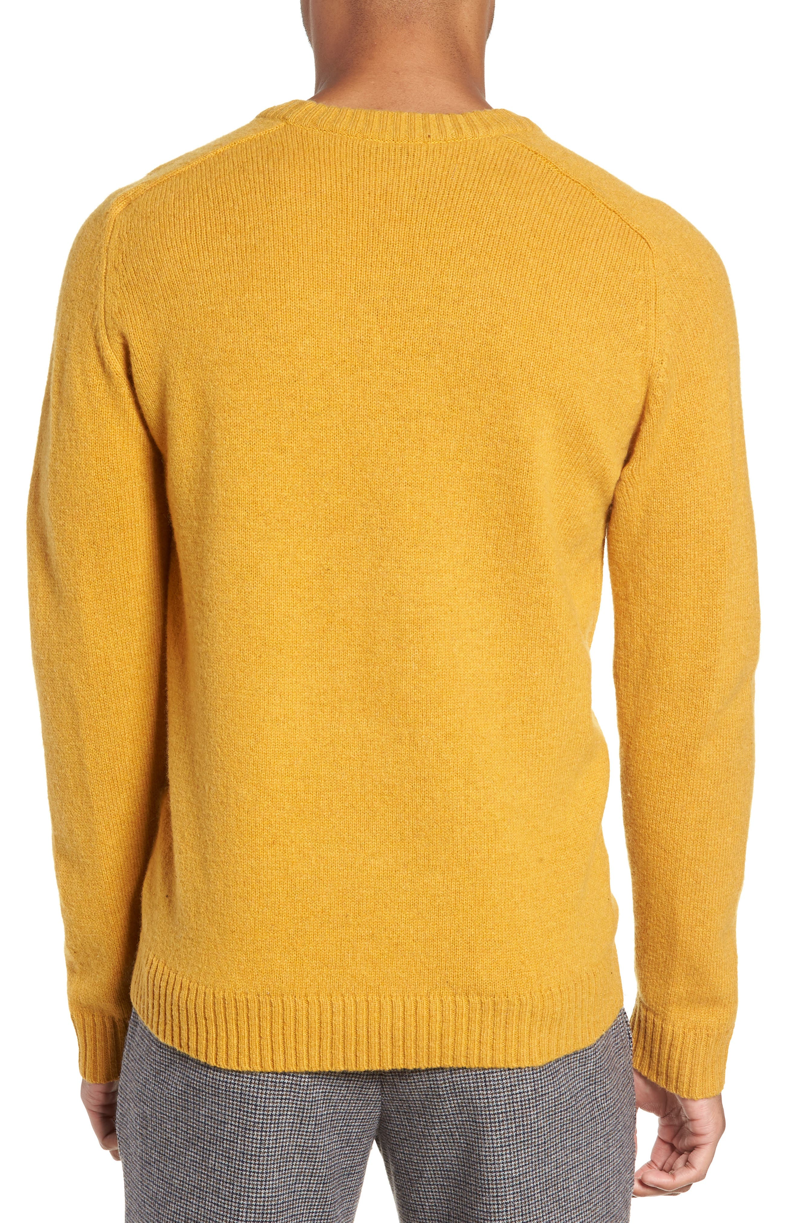 New Coban Regular Fit Wool Sweater,                             Alternate thumbnail 2, color,                             CURRY