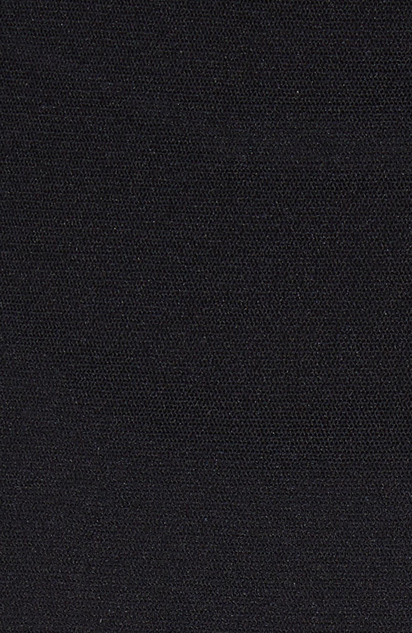 Ruffle Tulle Midi Skirt,                             Alternate thumbnail 5, color,                             NERO