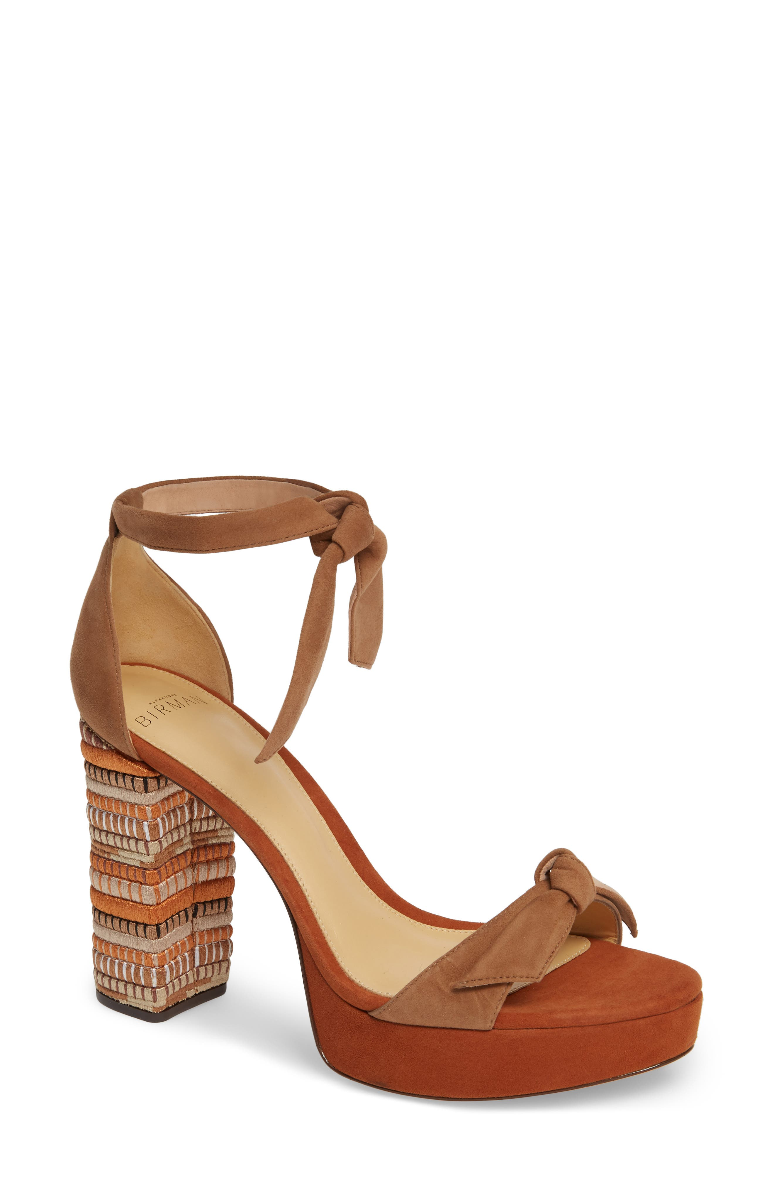 ALEXANDRE BIRMAN Mabeleh Platform Sandal, Main, color, BEIGE/ COCOA