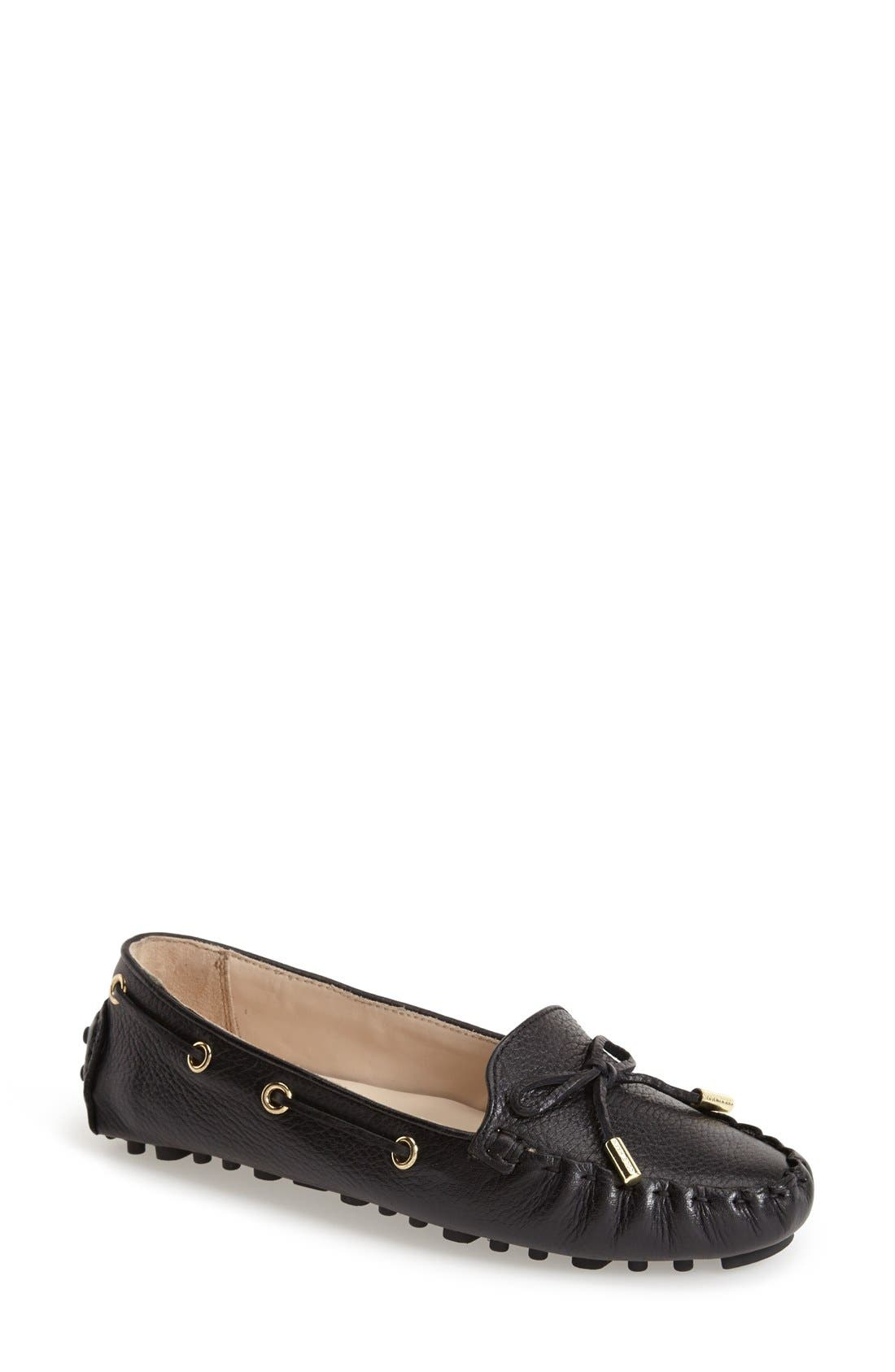 'Cary' Leather Driving Flat,                         Main,                         color, 001