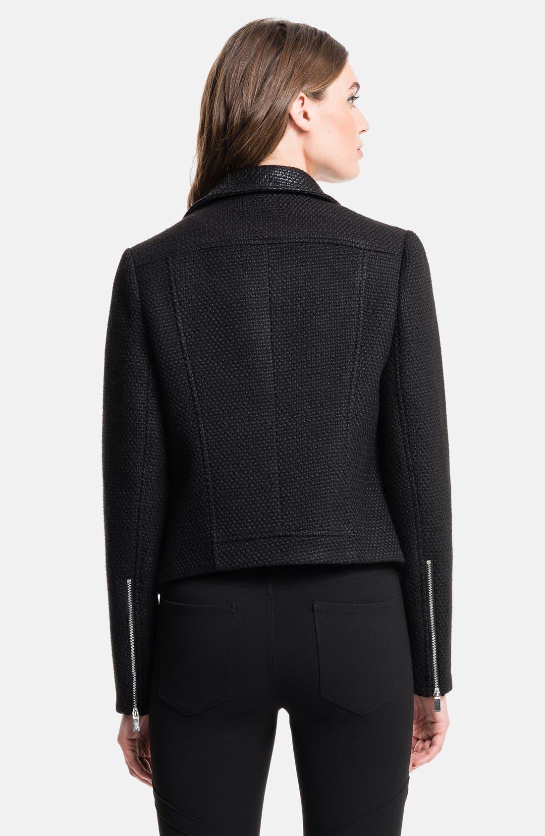 Coated Tweed Moto Jacket,                             Alternate thumbnail 2, color,                             060