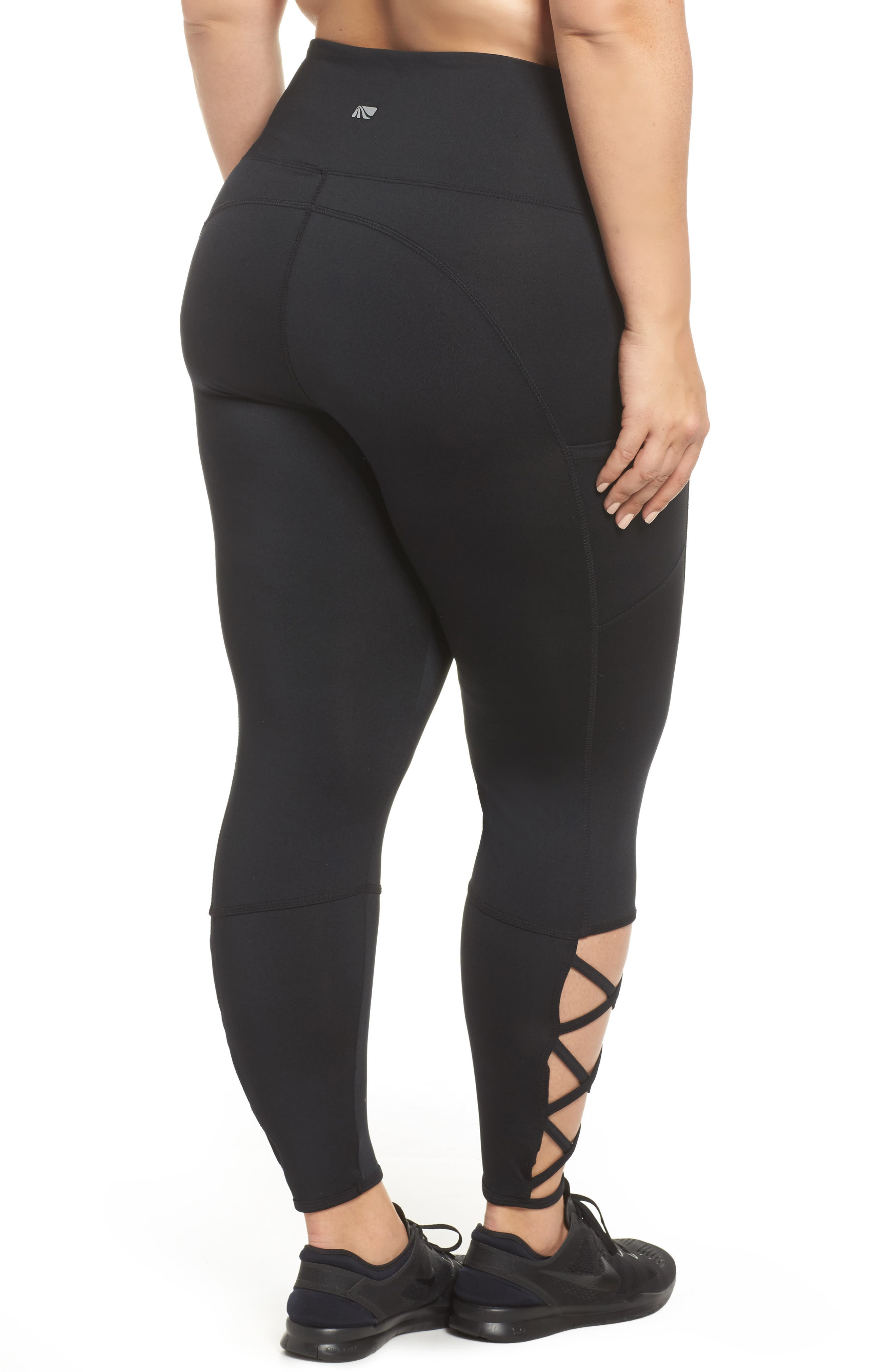 Lux Ankle Leggings,                             Alternate thumbnail 2, color,                             001