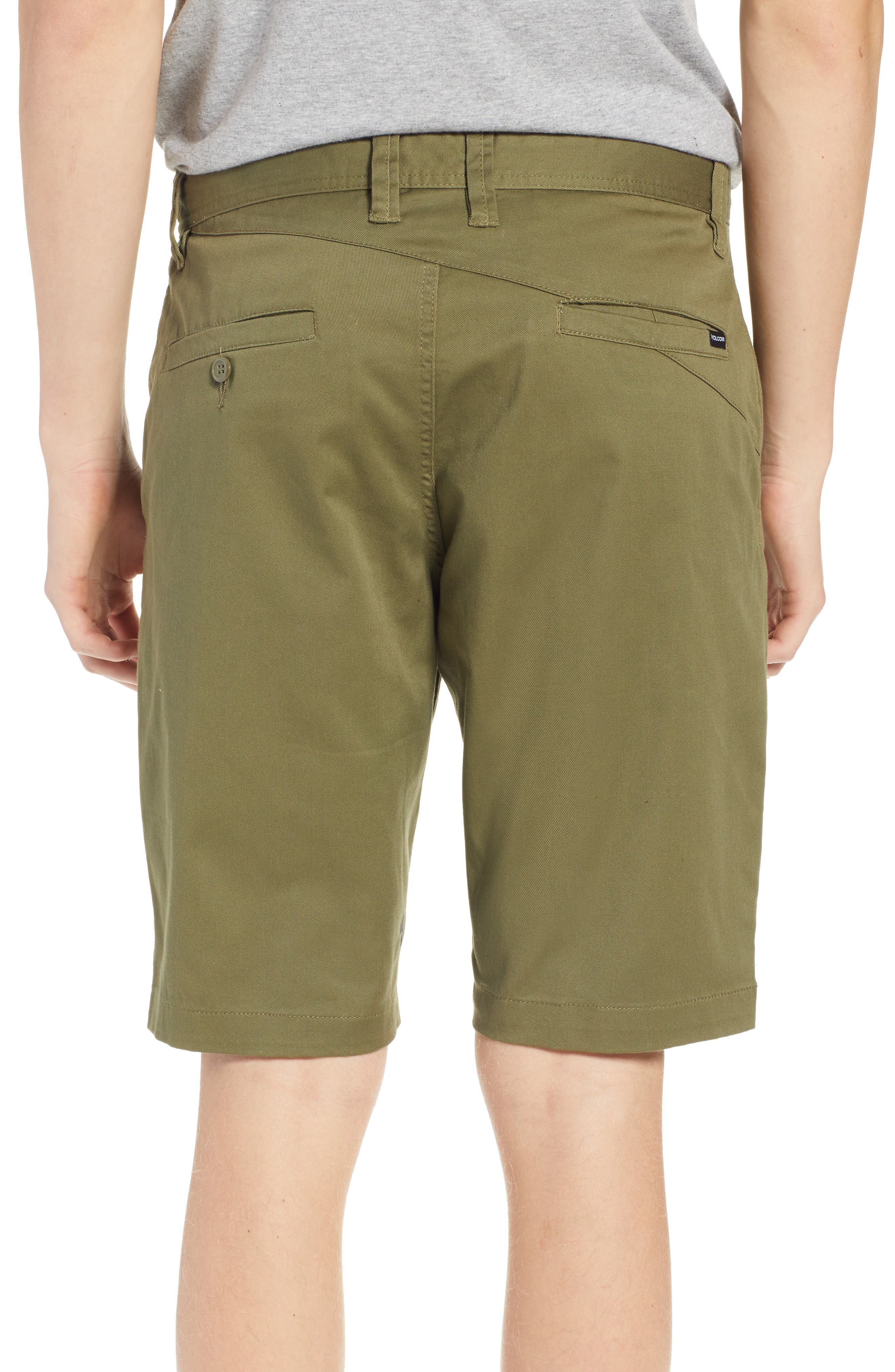 'Modern' Stretch Chino Shorts,                             Alternate thumbnail 2, color,                             VINE GREEN
