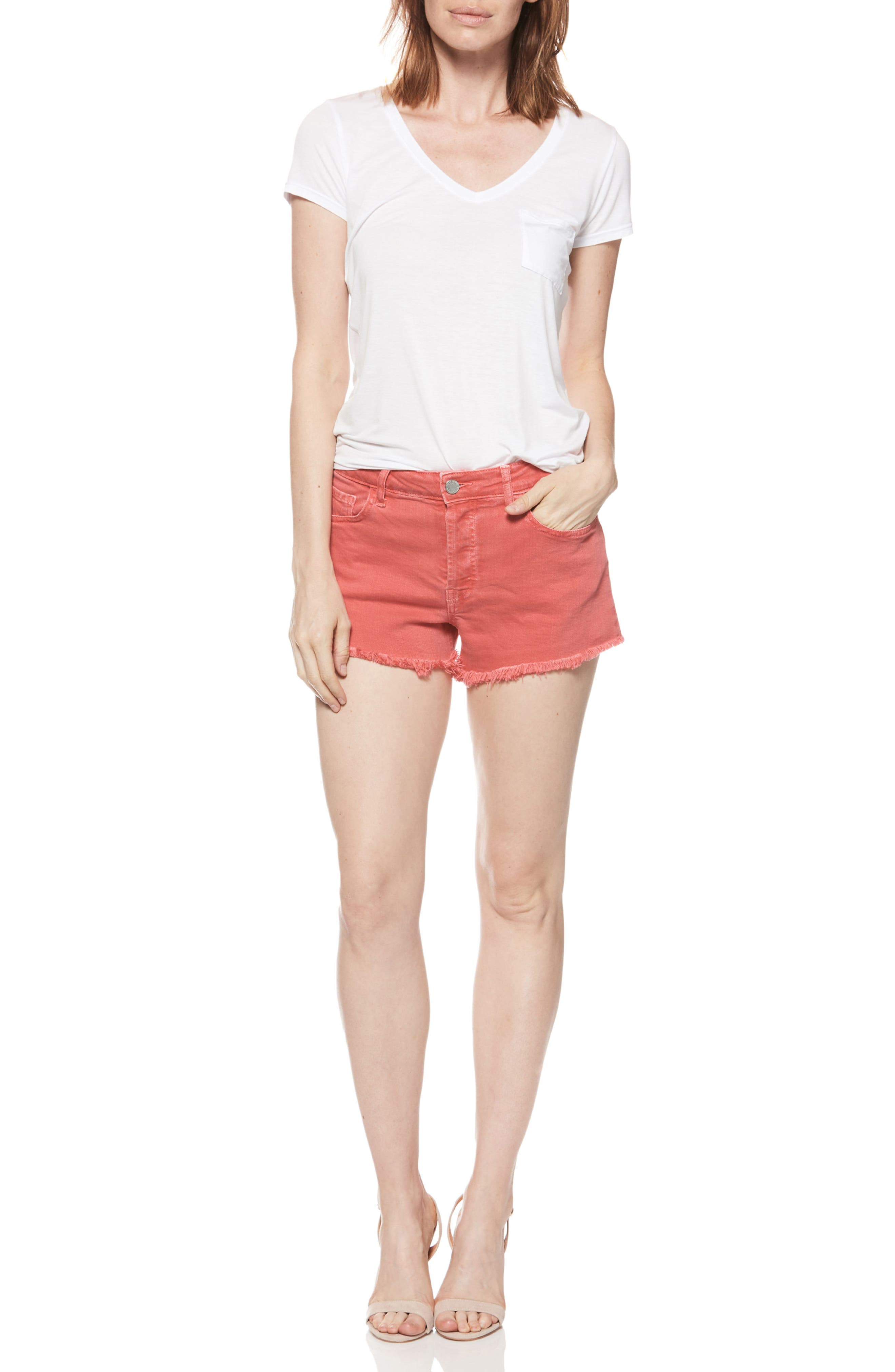 Emmit Relaxed Denim Shorts,                             Alternate thumbnail 6, color,                             601