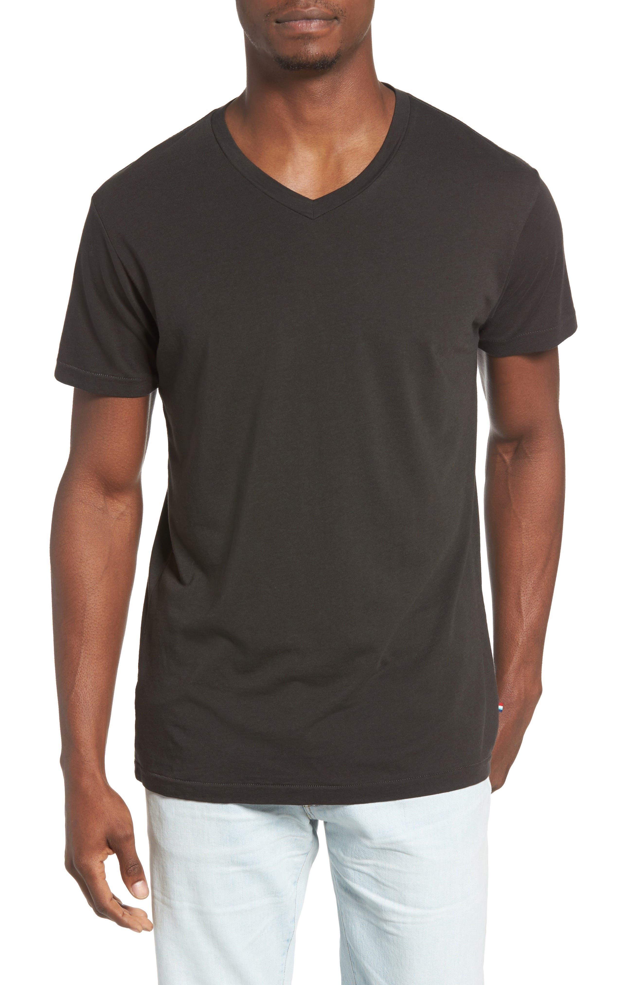 Essential V-Neck T-Shirt,                             Main thumbnail 4, color,