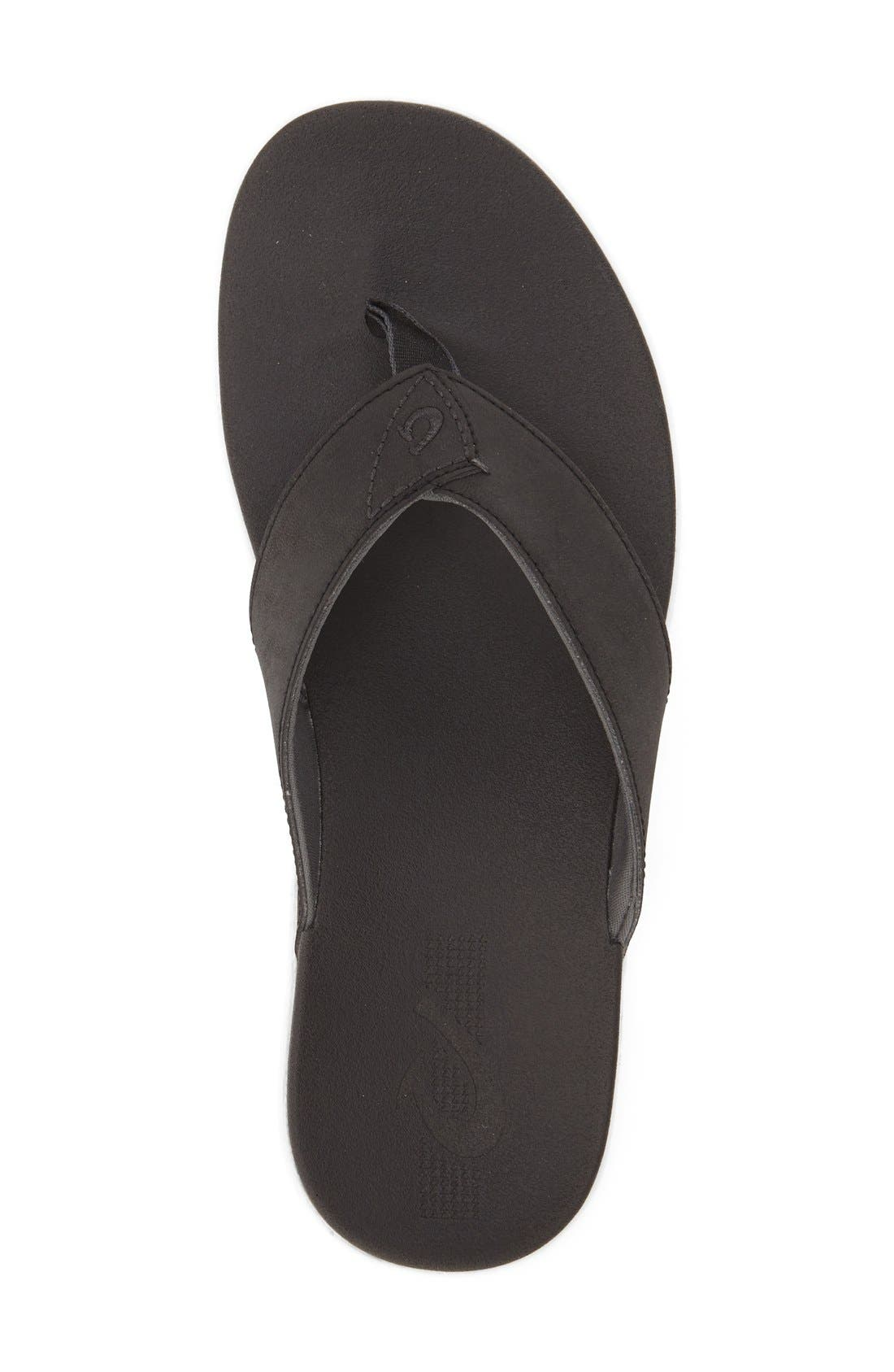 OLUKAI,                             'Holona' Flip Flop,                             Alternate thumbnail 3, color,                             001