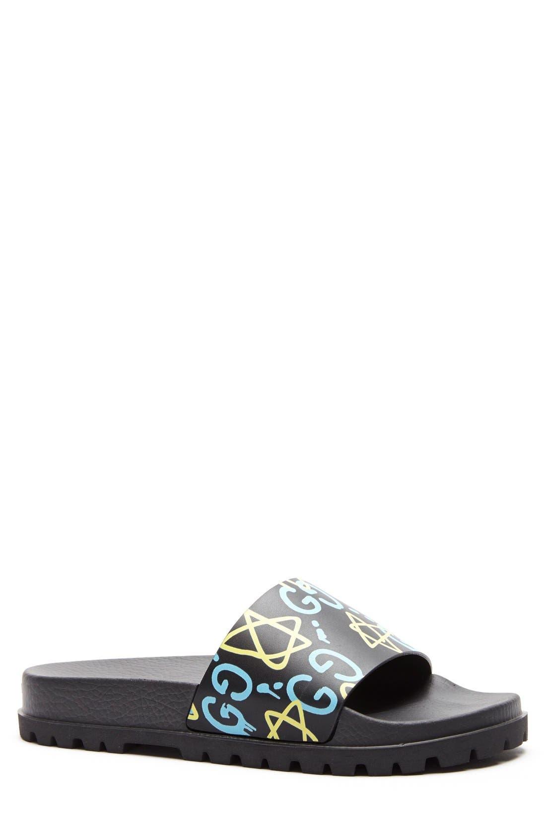 'Pursuit Treck' Slide Sandal,                             Alternate thumbnail 3, color,                             001