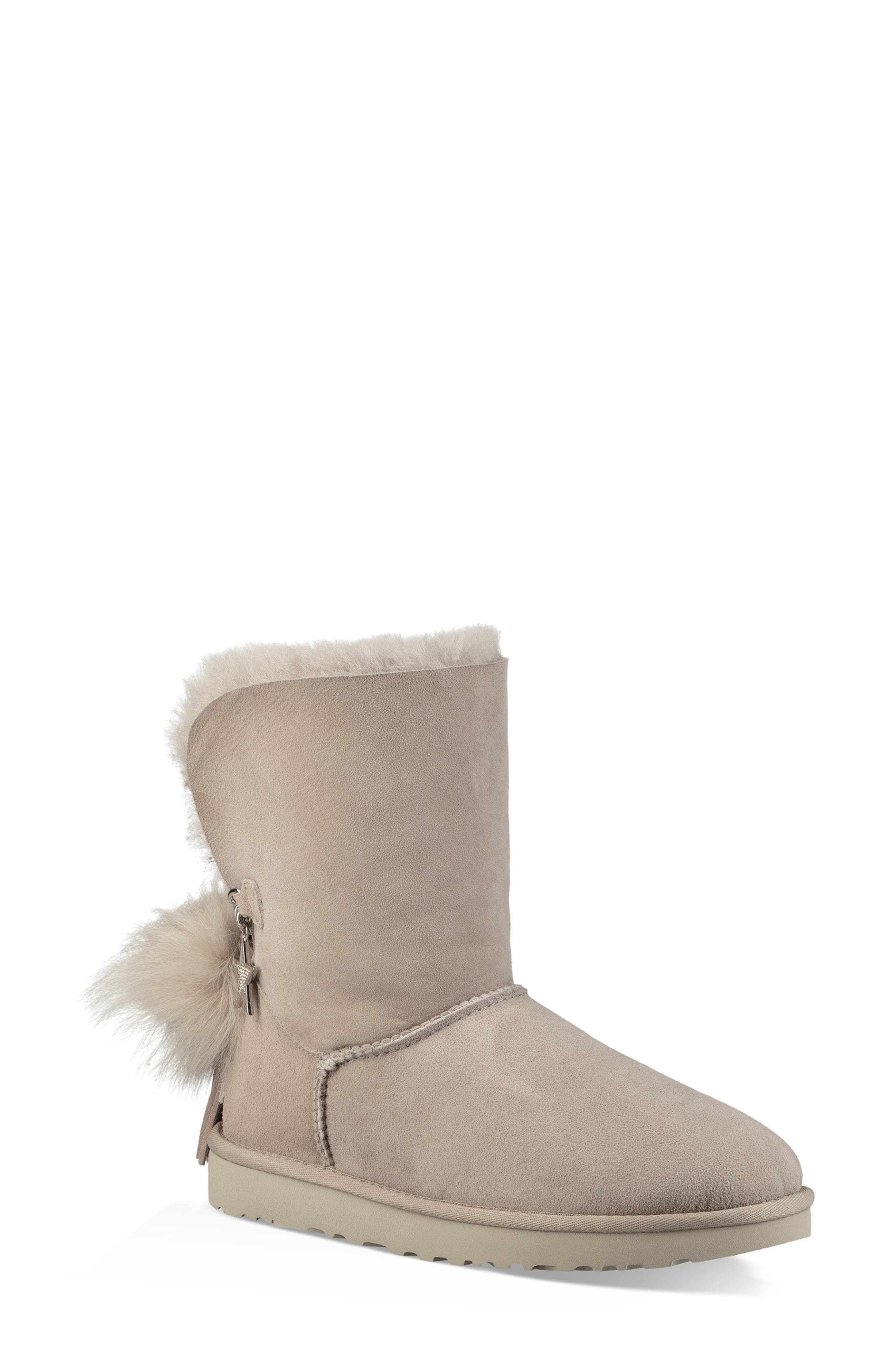 Classic Charm Bootie,                             Main thumbnail 1, color,                             WILLOW SUEDE