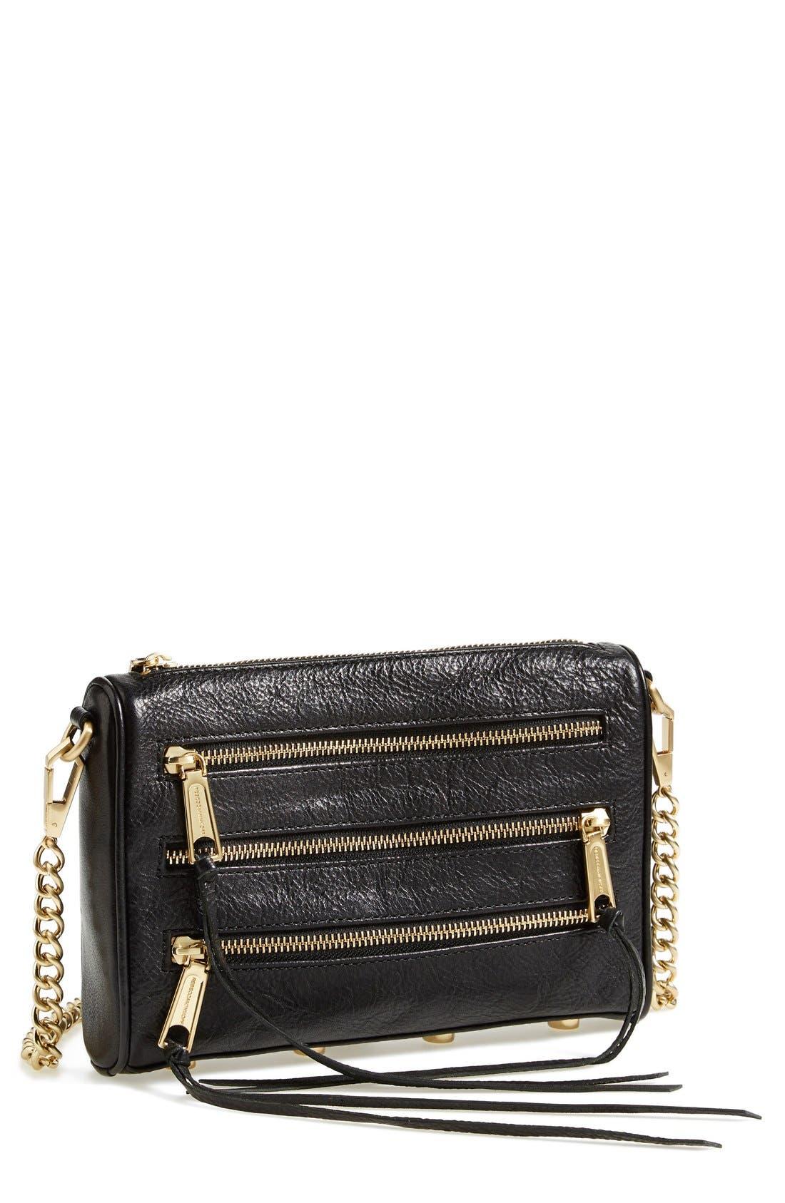 'Mini 5 Zip' Convertible Crossbody Bag,                             Main thumbnail 1, color,                             001