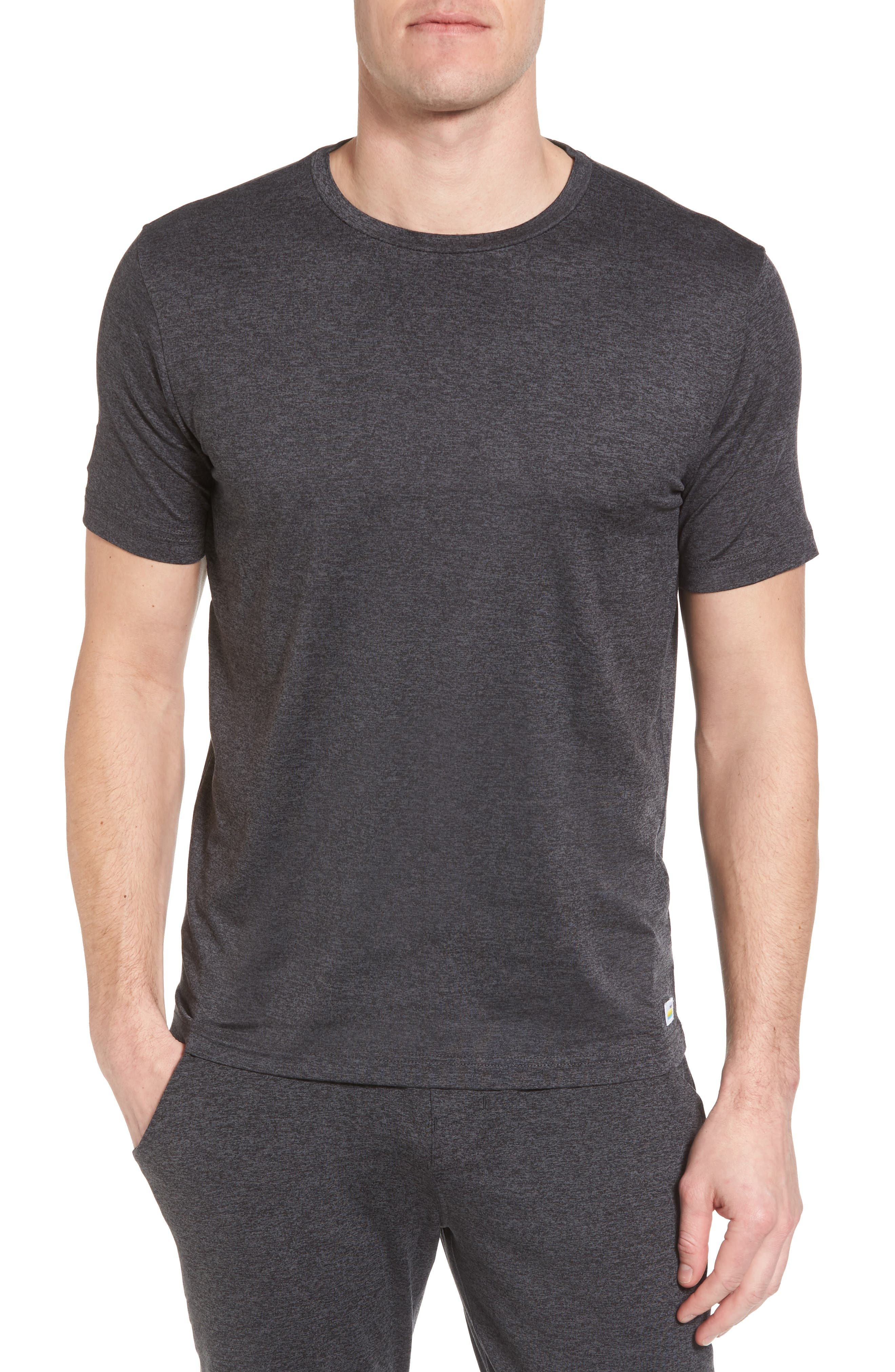 Strato Slim Fit Crewneck T-Shirt,                             Main thumbnail 1, color,                             HEATHER CHARCOAL