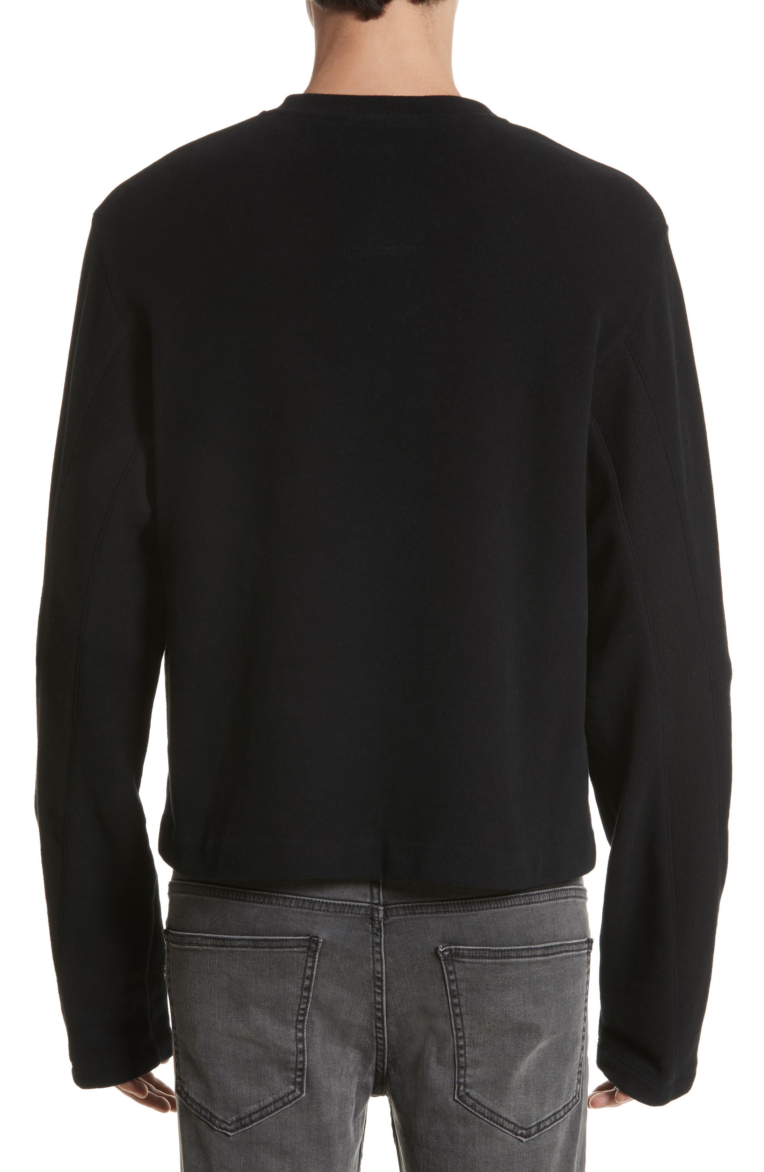 Rib Detail Crewneck Sweater,                             Alternate thumbnail 2, color,                             001