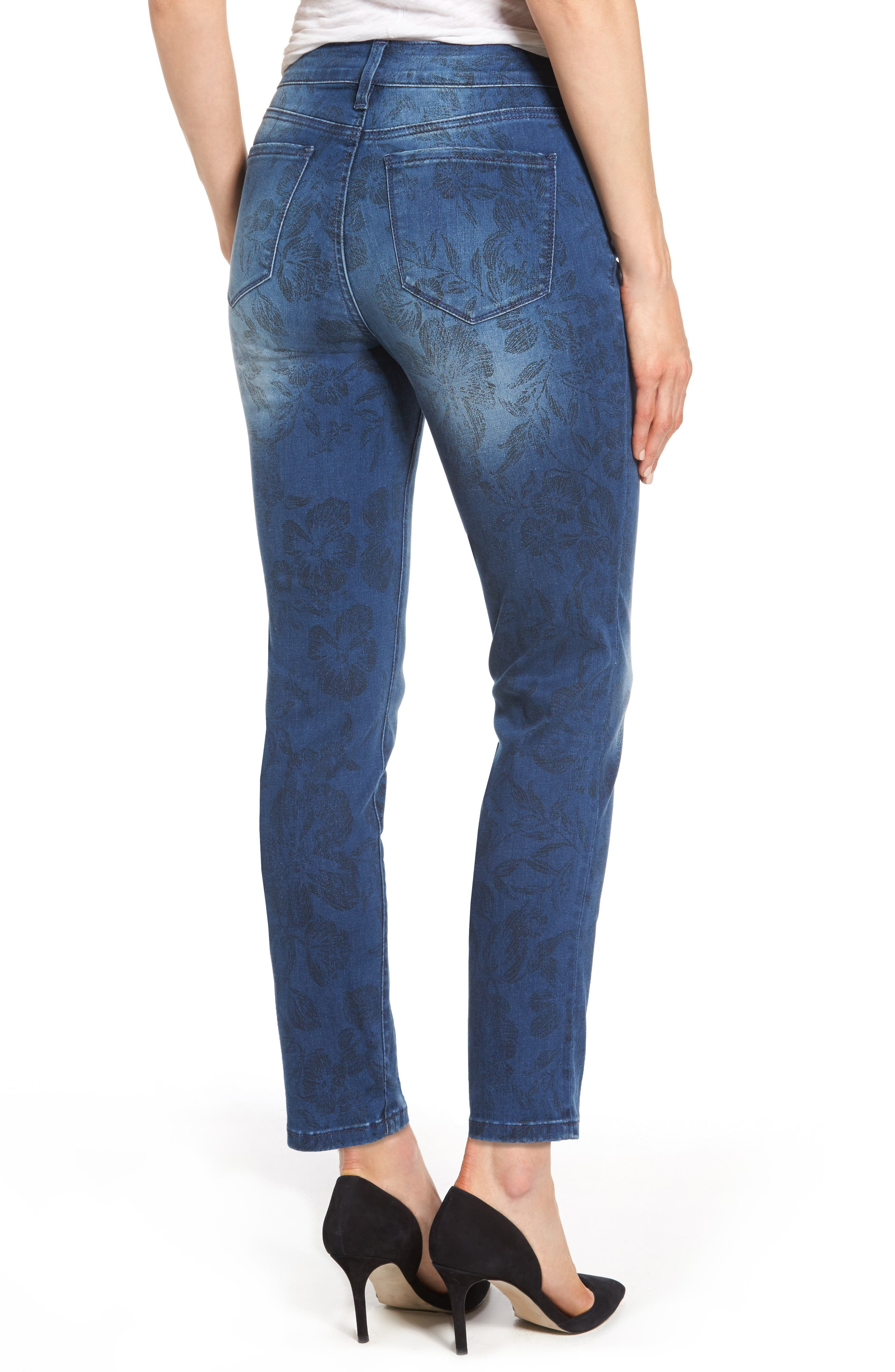 Alina Print Slim Ankle Jeans,                             Alternate thumbnail 2, color,                             490