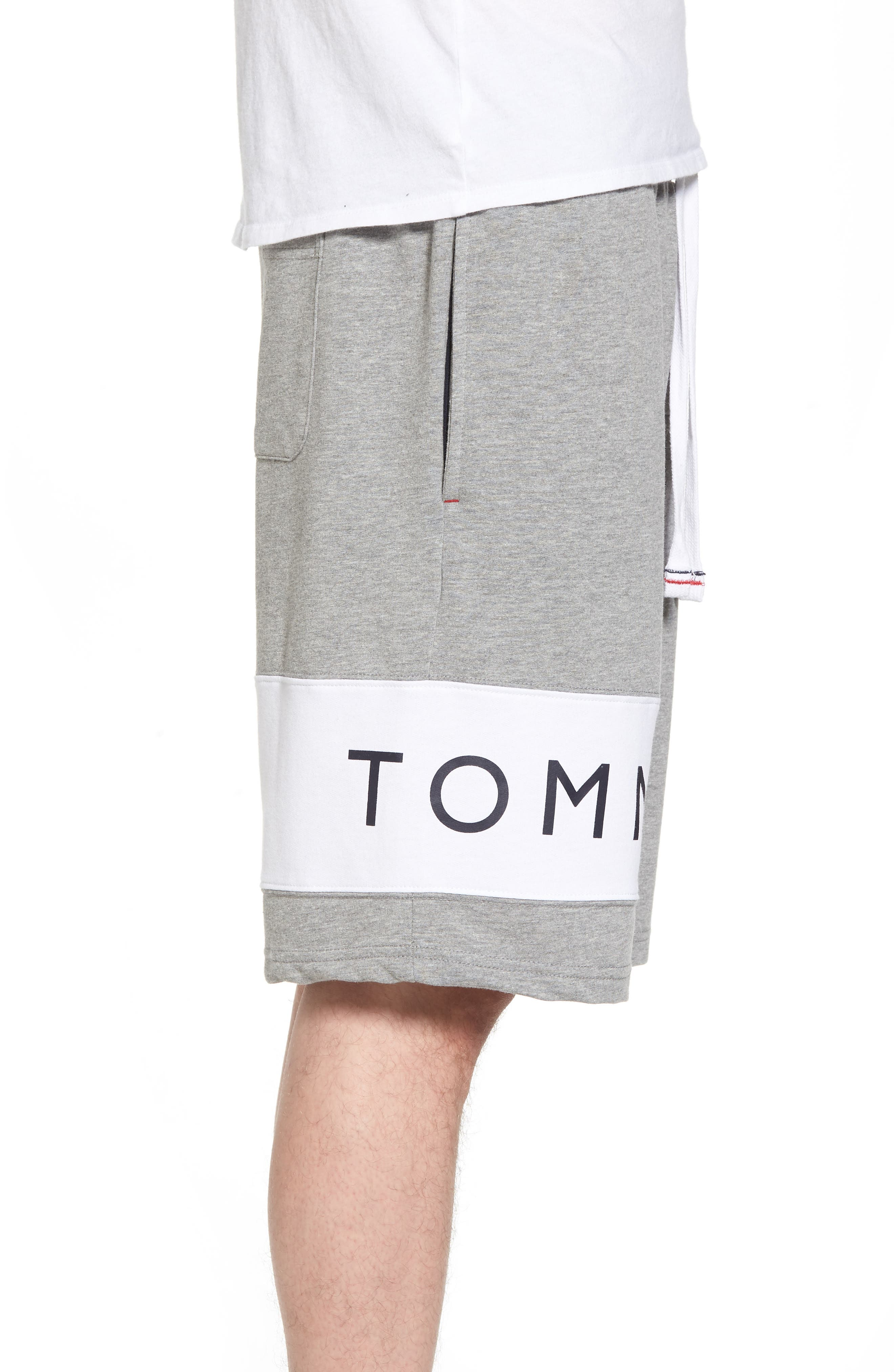 TOMMY HILFIGER,                             Lounge Shorts,                             Alternate thumbnail 4, color,                             GREY HEATHER