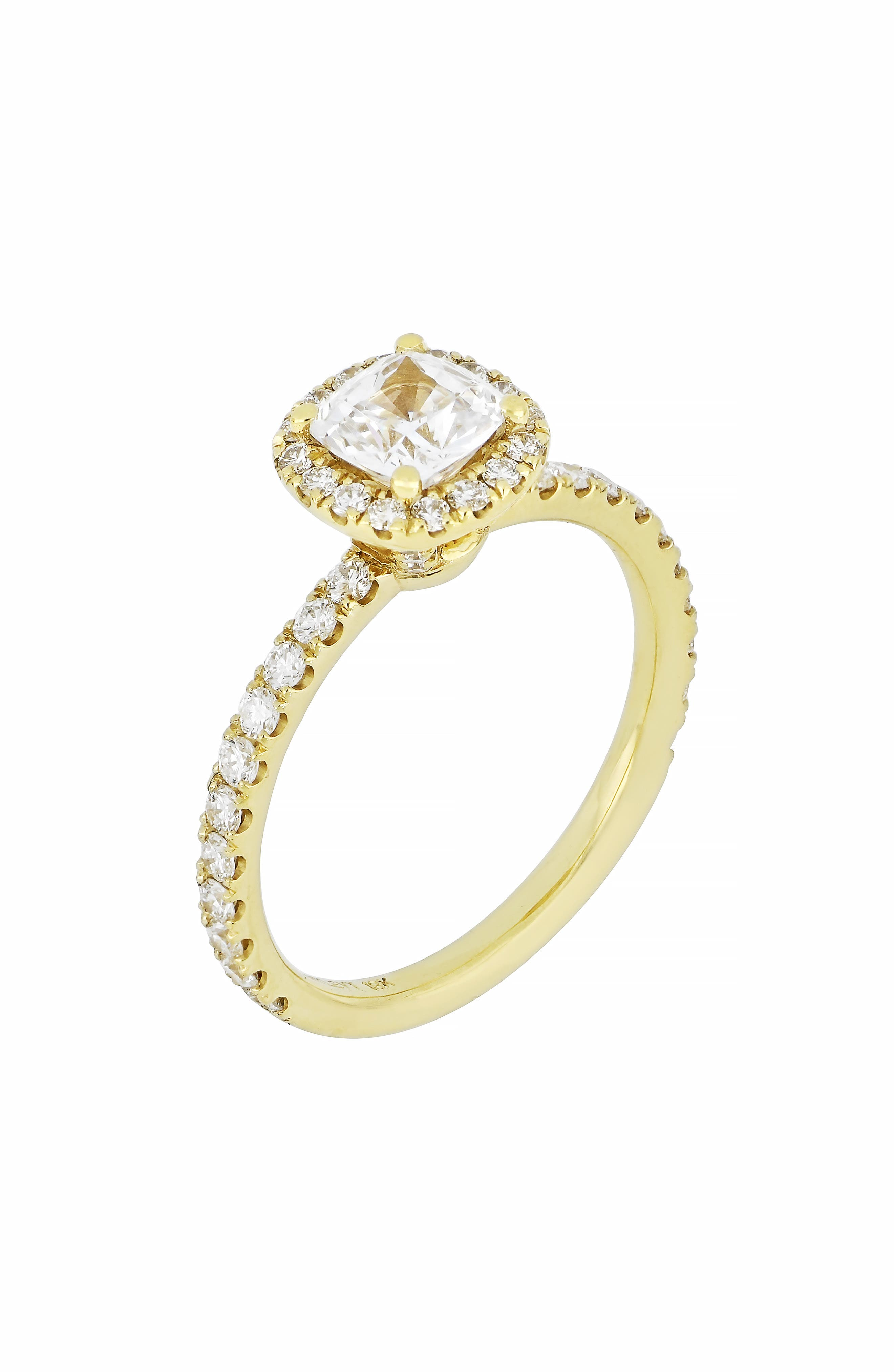 BONY LEVY Pavé Round Diamond Ring, Main, color, GOLD
