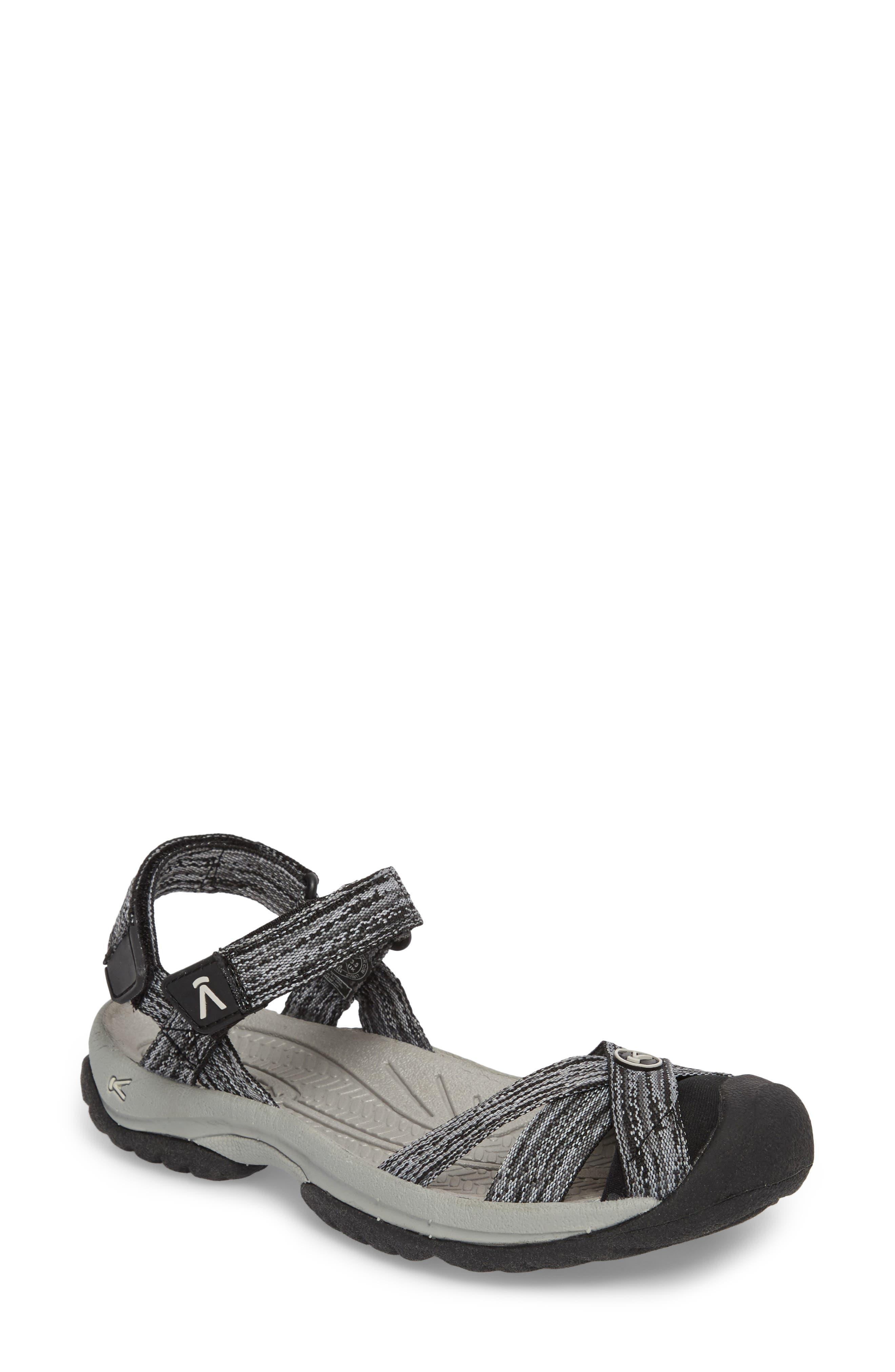 Bali Sandal,                             Main thumbnail 1, color,                             NEUTRAL GRAY/ BLACK