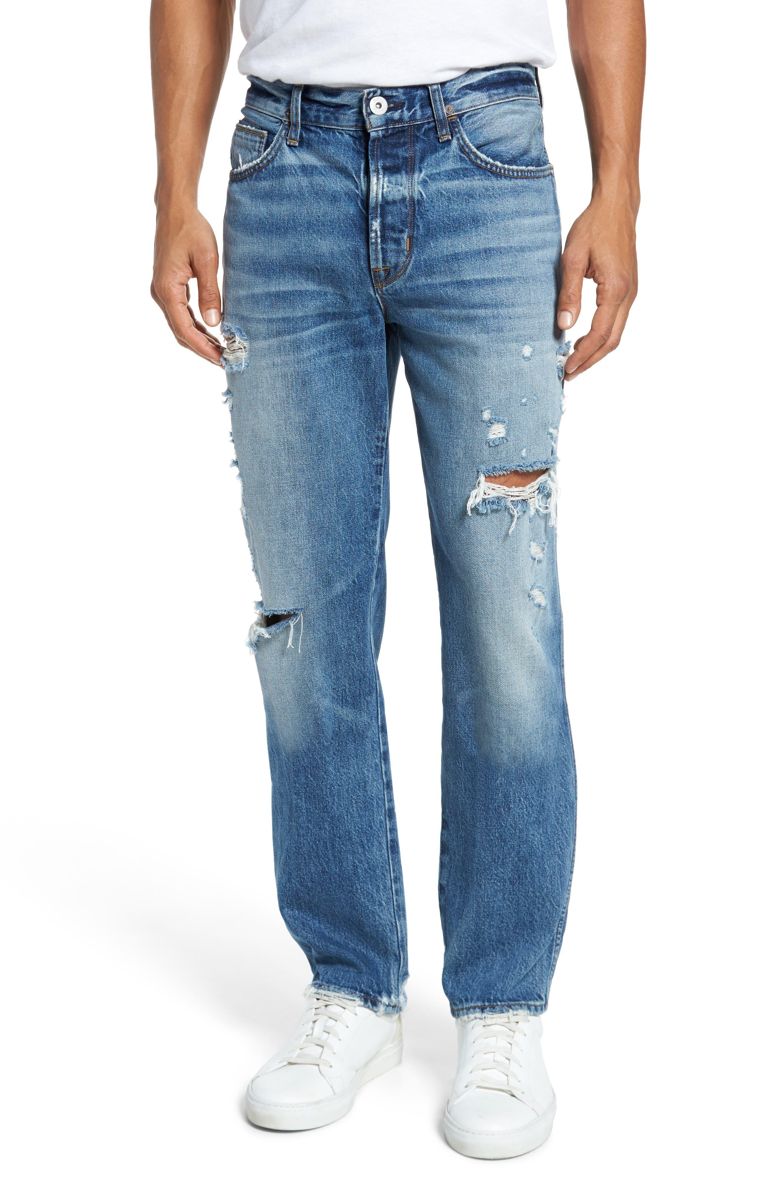 Dixon Straight Fit Jeans,                             Main thumbnail 1, color,                             450
