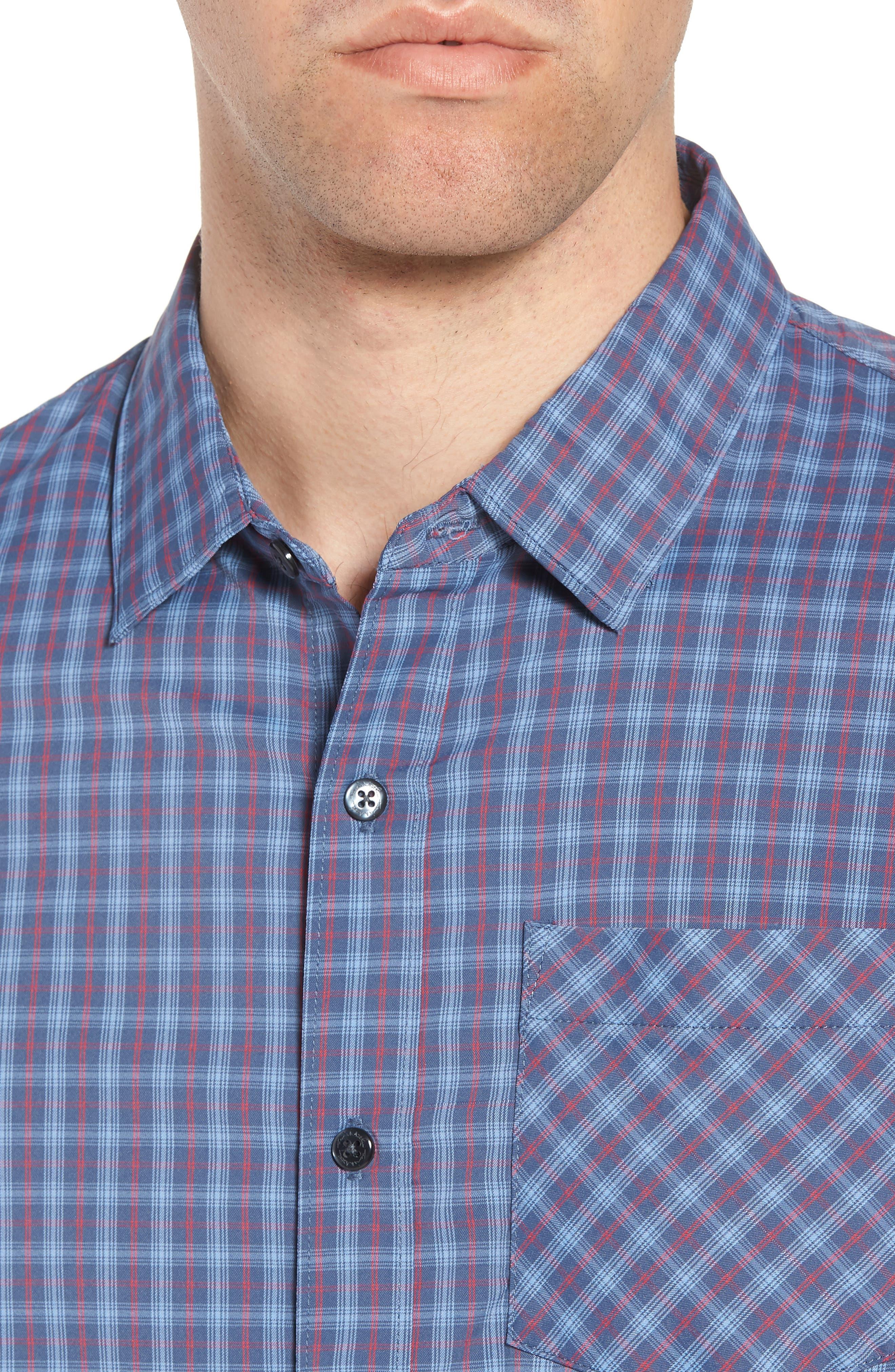Smoke Bomb Regular Fit Short Sleeve Sport Shirt,                             Alternate thumbnail 4, color,                             400