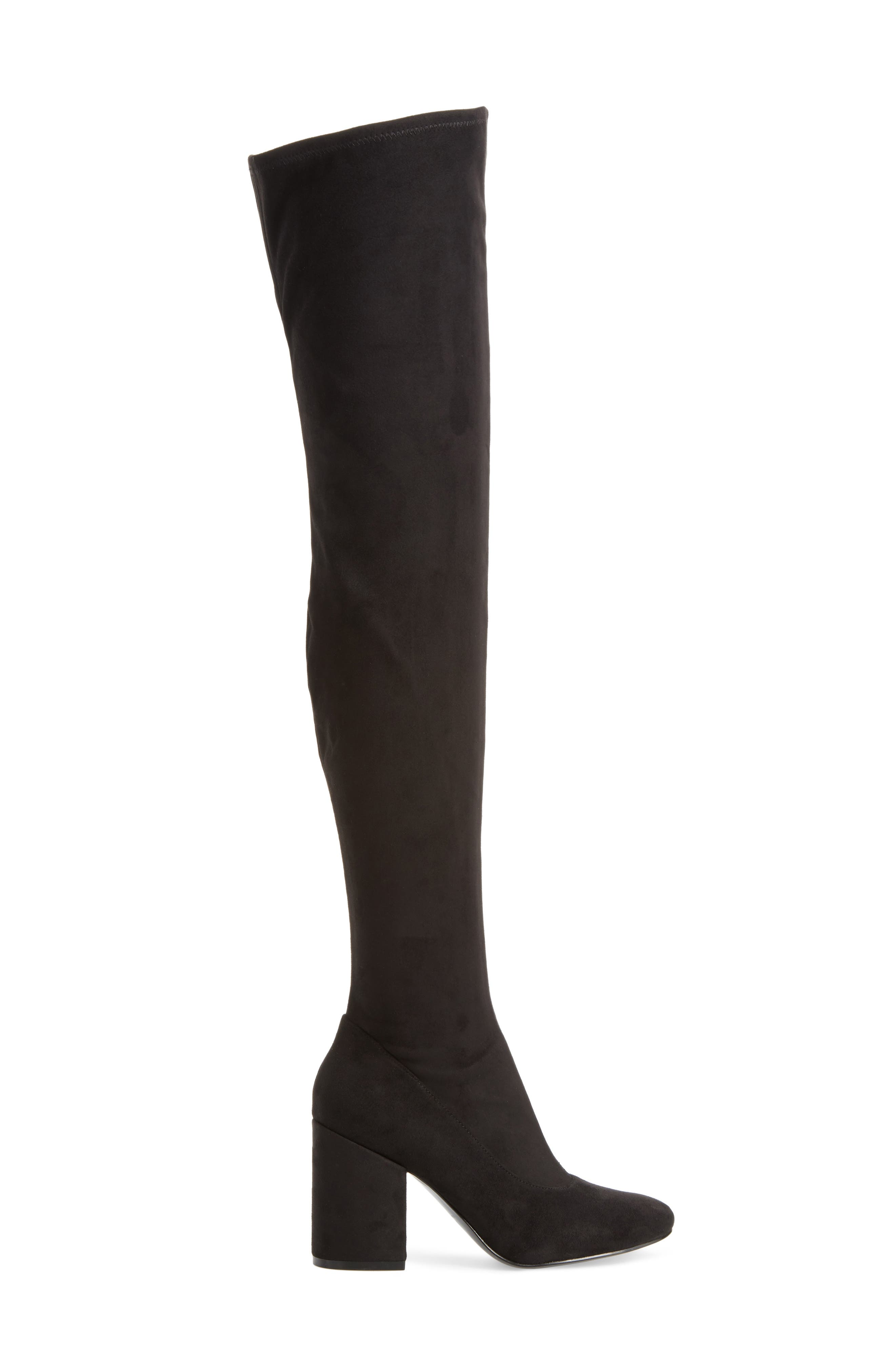 Praye Over the Knee Boot,                             Alternate thumbnail 3, color,                             001