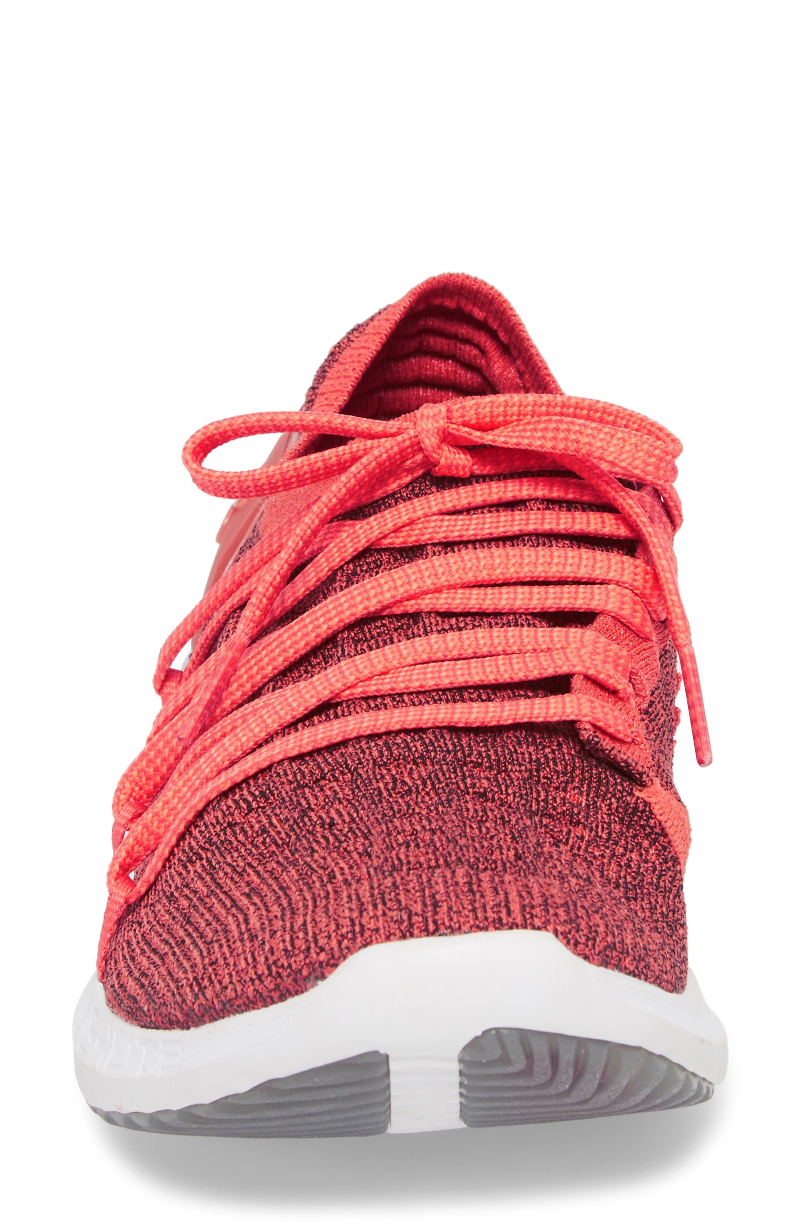 SpeedForm<sup>®</sup> Slingshot 2 Running Shoe,                             Alternate thumbnail 4, color,                             VERMILLION/ BLACK