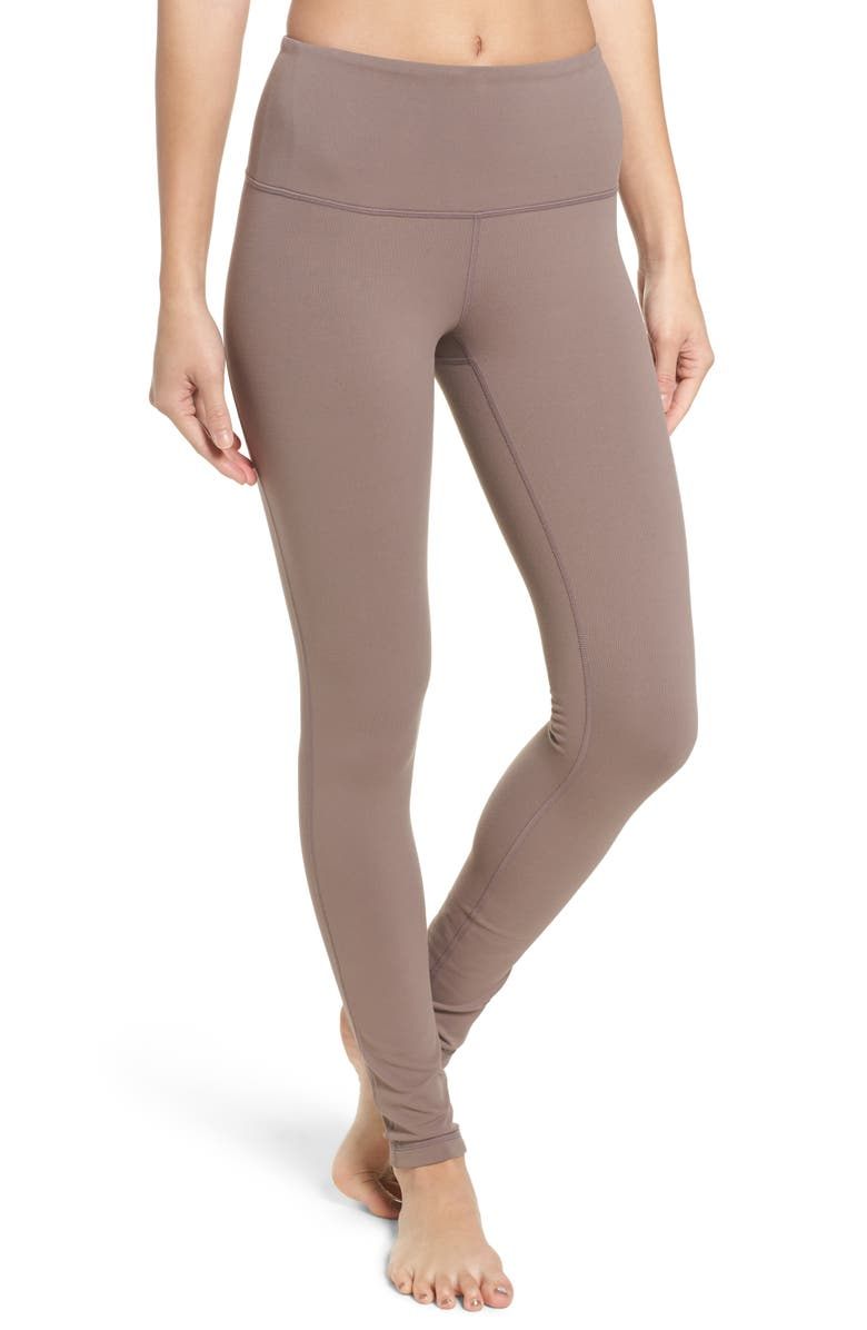 Live In High Waist Leggings,                         Main,                         color, TAN DUSK