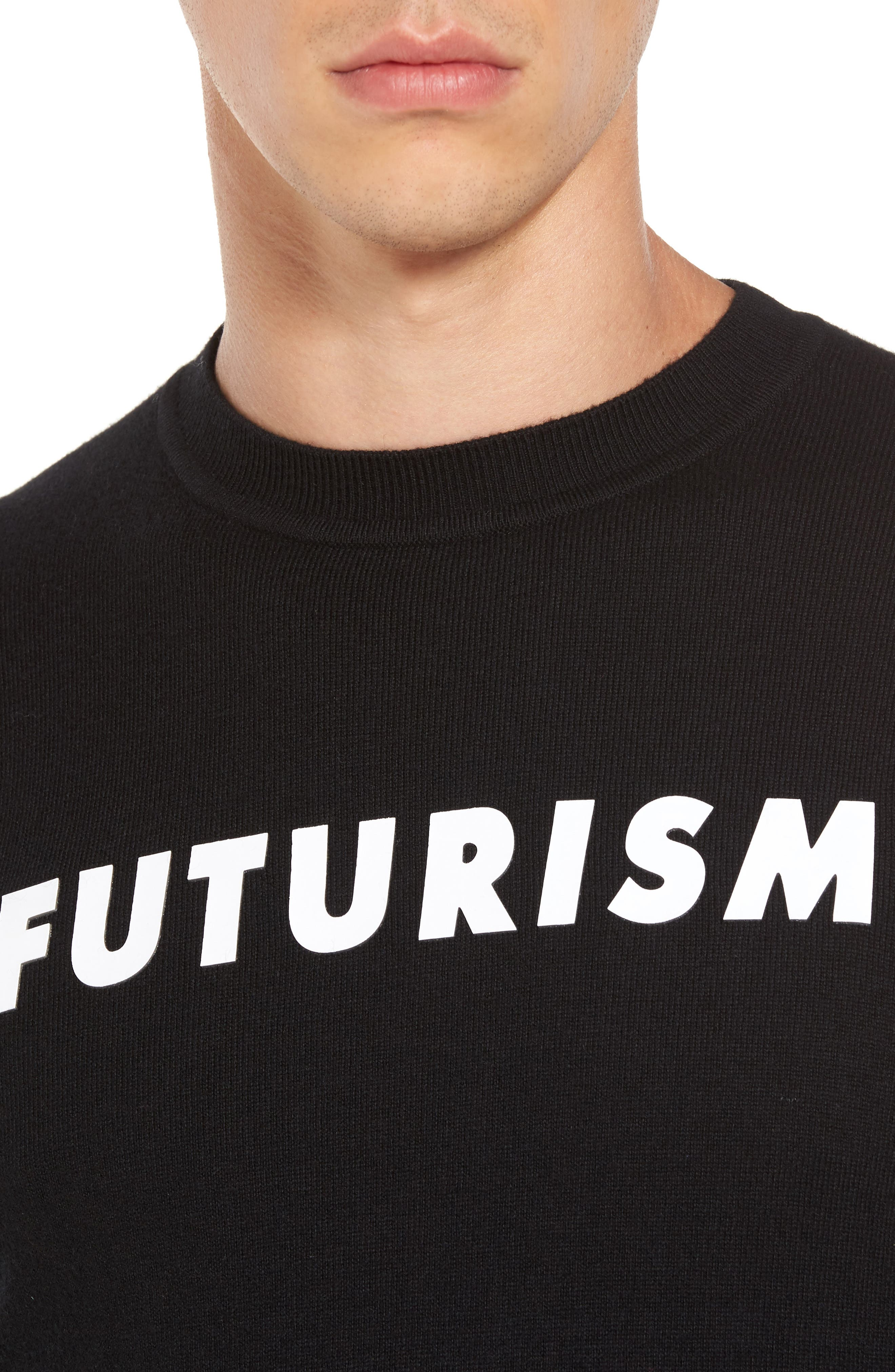 Futurism Graphic Sweater,                             Alternate thumbnail 4, color,                             001